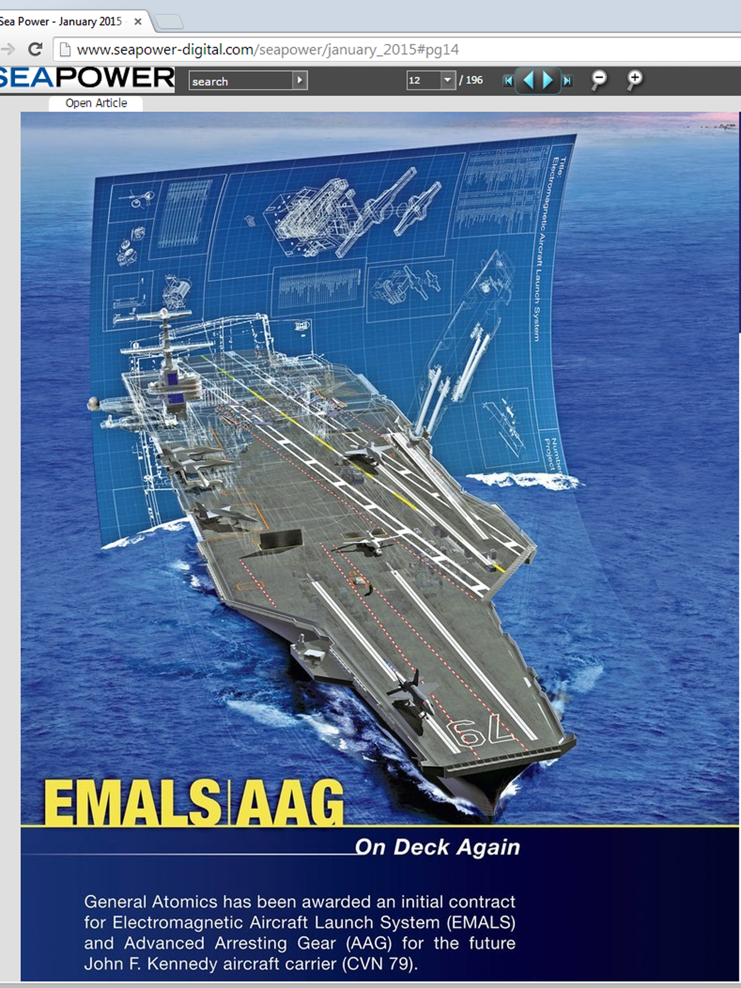 I created the Aircraft carrier model and all the parts in 3d studio max, took the 5 different renders into photoshop where I added the background and the blue print. Was used in a promotional piece for General Atomics Electromagnetic Systems.