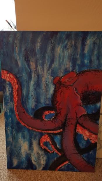 acrylic octopus