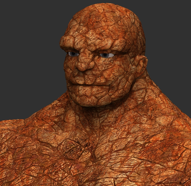 wanted to make a version of the Thing from Fantastic Four