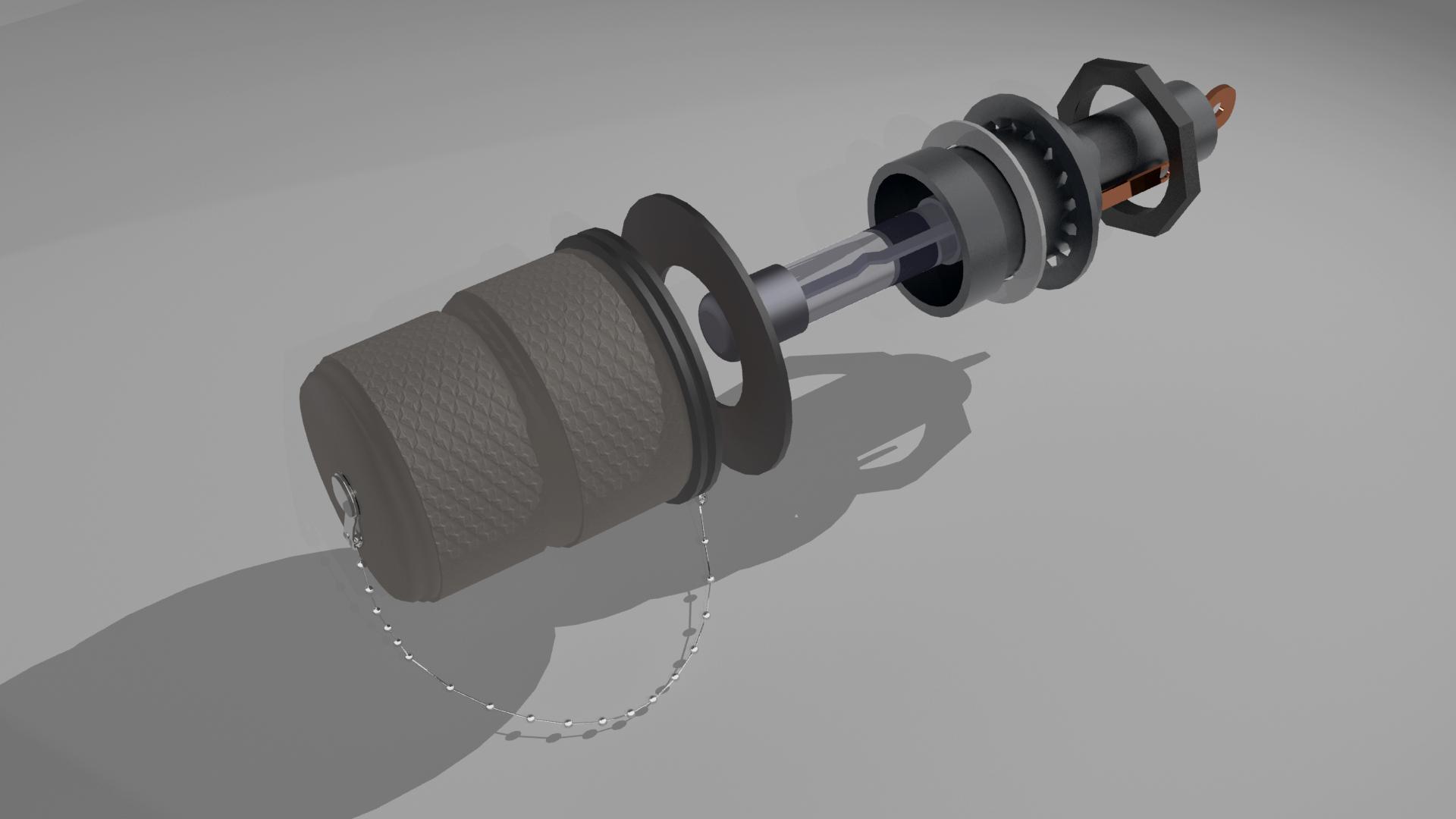 Fuze holder created in 3d studio max