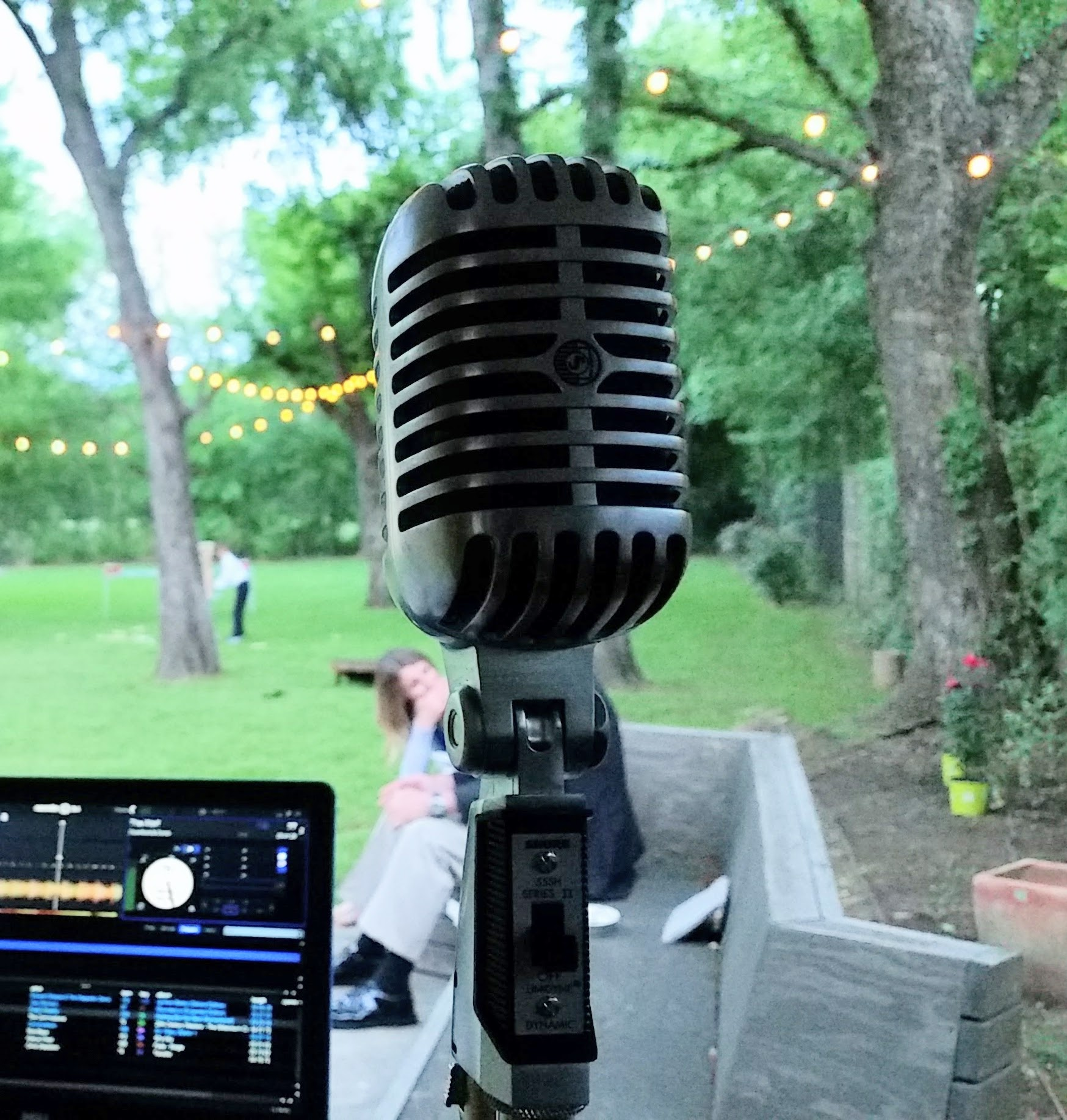 The Microphone - My Shure 55 is a top-of-the-line cardioid mic with a warm, clean sound that only comes from quality mics. And look how PRETTY it is. It's been photographed more than I have!