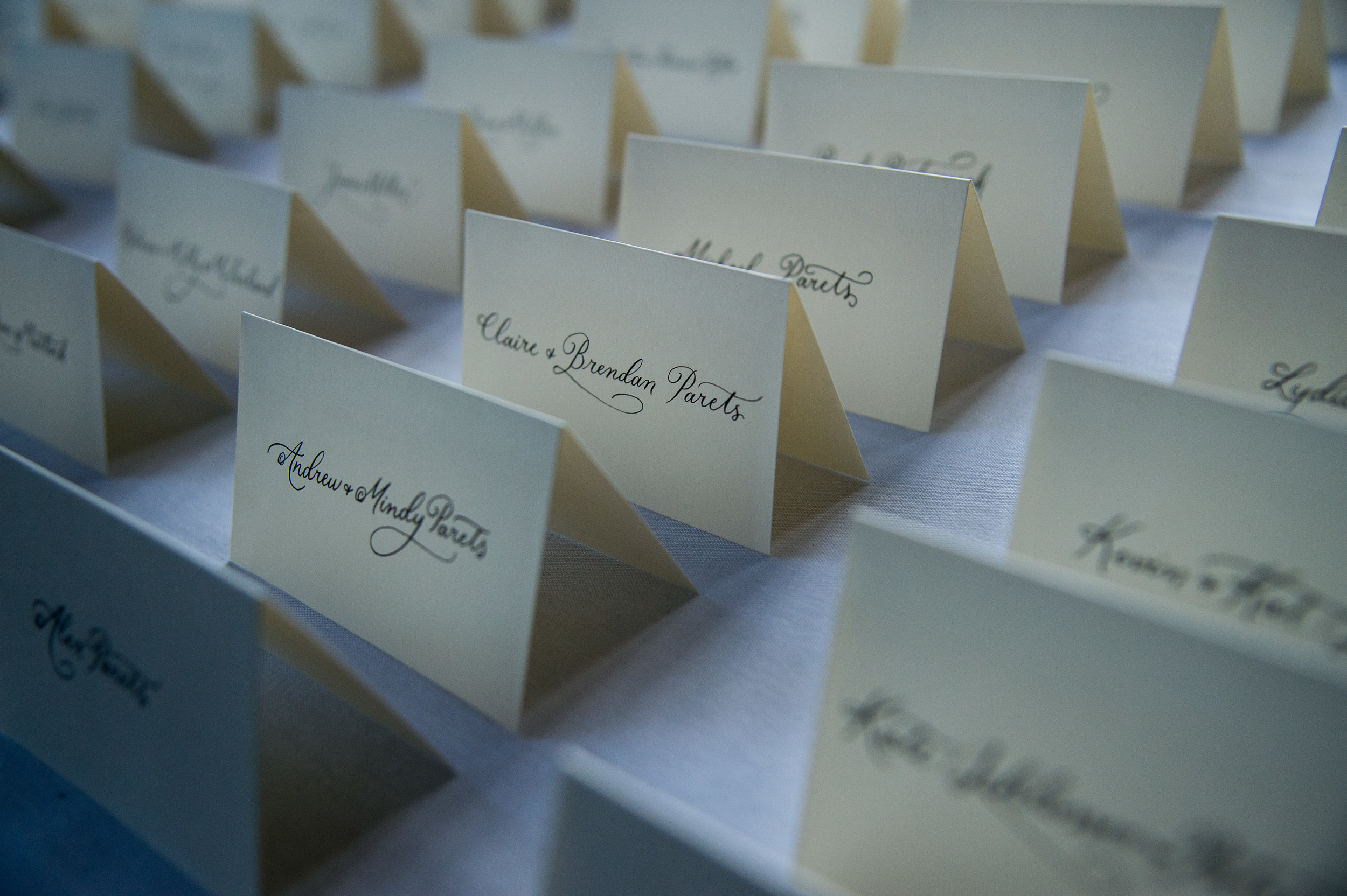 """Claire's Thoughts… - """"We loved working with Nika and would recommend her to all brides and grooms! She did an amazing job on our invitations and signage and was able to come up with several options that were in our budget."""""""