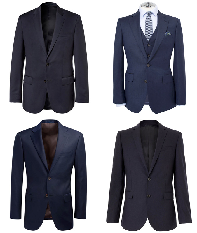 1B Plain Navy Two-Button Suit - Mohini Fashions Suits Hong Kong Tailor Bespoke