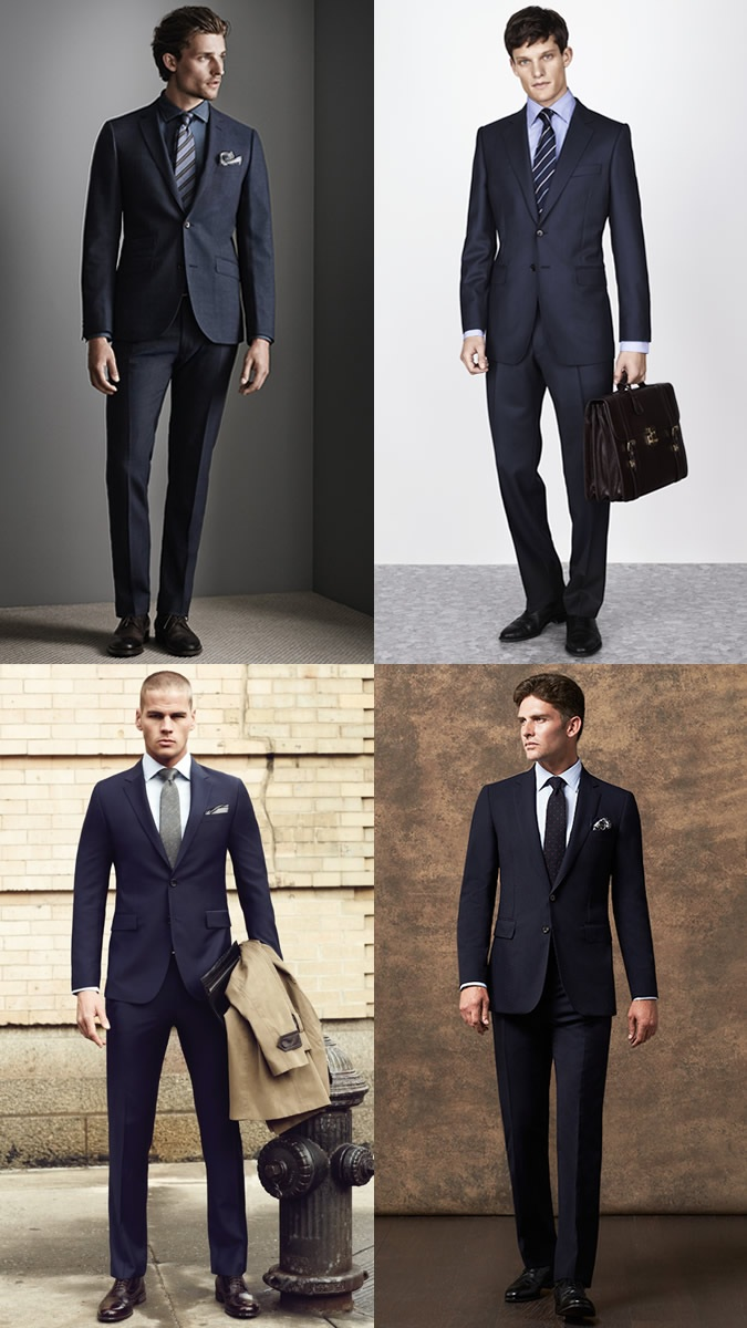 1A Plain Navy Two-Button Suit - Mohini Fashions Suits Hong Kong Tailor Bespoke
