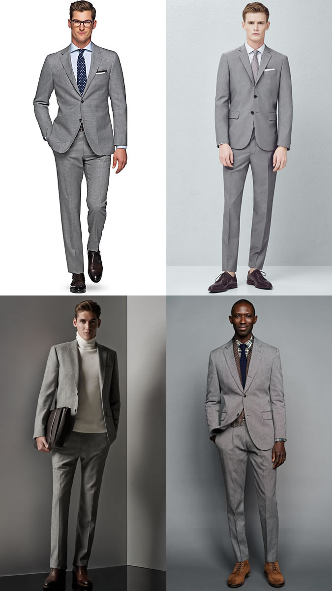 2A The Plain Grey Two-Button Suit - Mohini Fashions Suits Hong Kong Tailor Bespoke