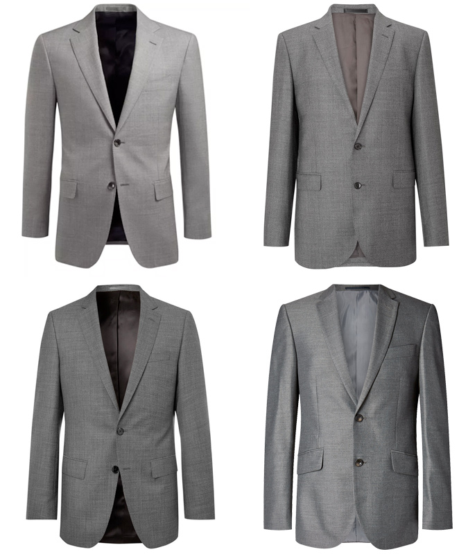 2B The Plain Grey Two-Button Suit - Mohini Fashions Suits Hong Kong Tailor Bespoke