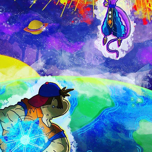 Close up on me - -  #illustration #cartoon #cartoonist #drawing #alien #graphite #shading #dragonball #dragonballz #dragonballsuper #artist #characterdesign #fanart #lol #goku #nickmessinkillustrations #illustrator #supersaiyan #me #lordberrus #color #watercolor #earth #space #epicfight