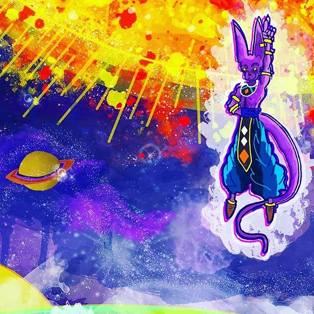 Close up on Lord Berrus - -  #illustration #cartoon #cartoonist #drawing #alien #graphite #shading #dragonball #dragonballz #dragonballsuper #artist #characterdesign #fanart #lol #goku #nickmessinkillustrations #illustrator #supersaiyan #me #lordberrus #color #watercolor #earth #space #epicfight