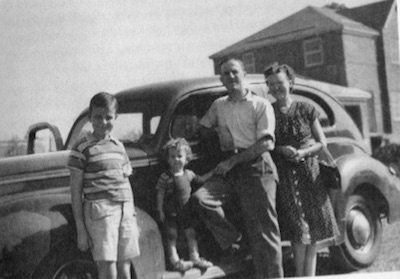 Ron & his brother Martin and his father & mother in Canada in 1947