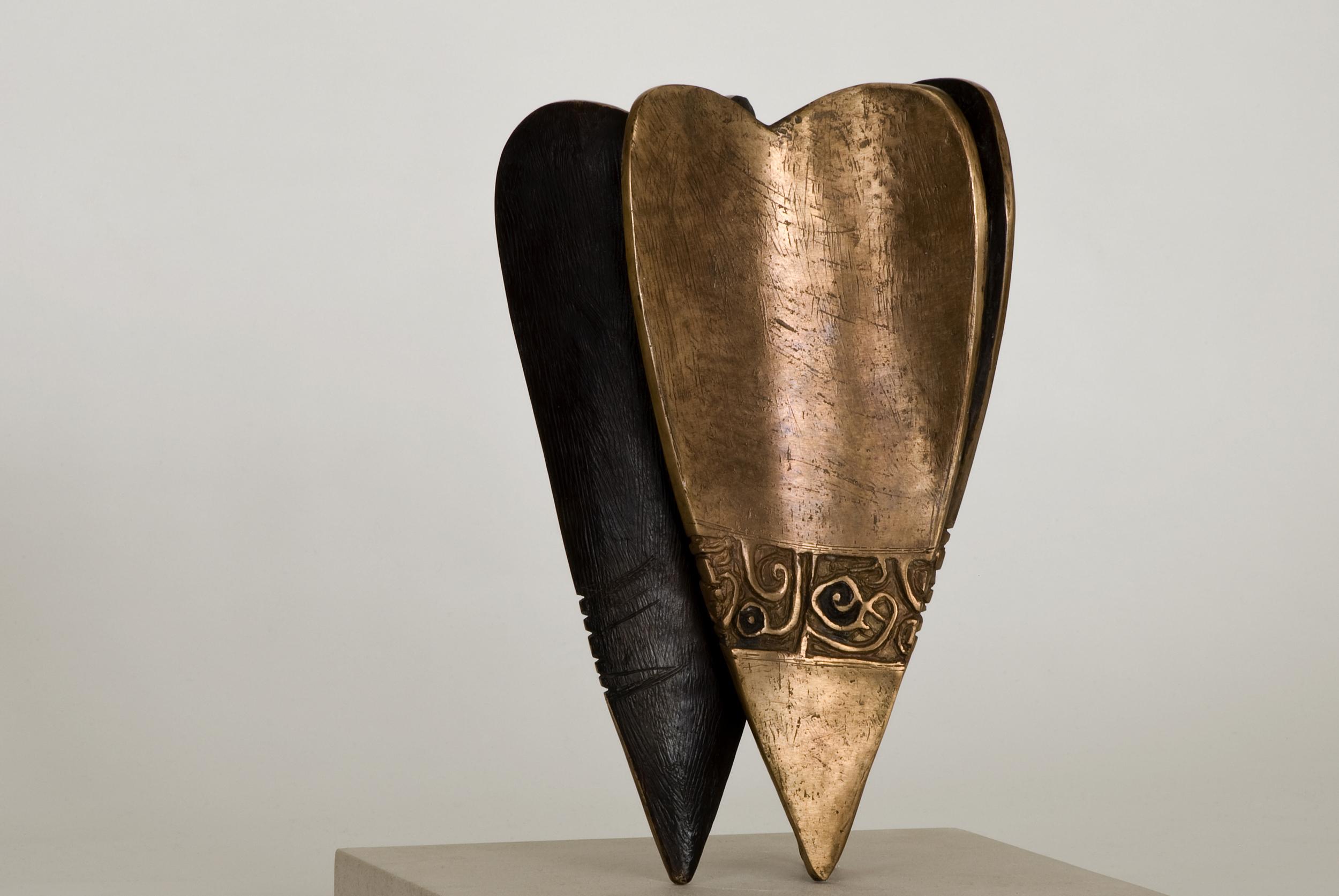 Tomorrow My Heart Will Heal     :    Al-Mu'min Al-Mu'eed  30cm (h) Bronze 2010