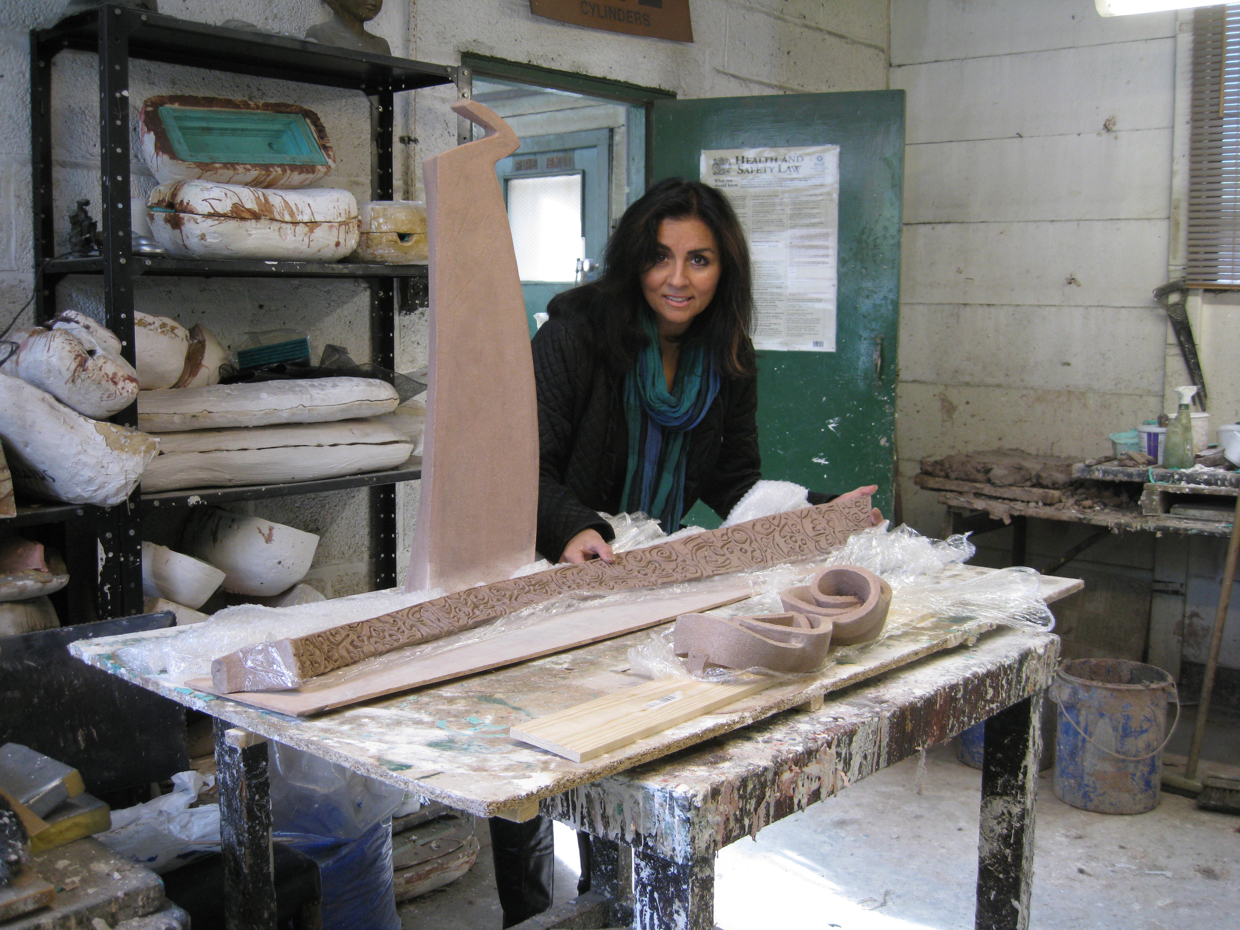 Maryam    Kaf Ha Ya Ain Ssad   240cm (height) The   Art Bronze Foundry    London 2012