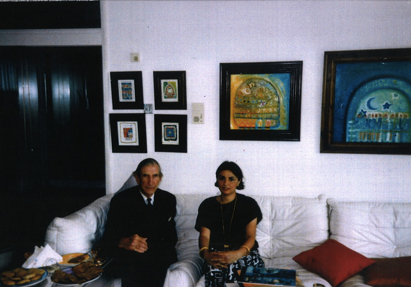 Wilfred Thesiger   epic meeting in preparation for  Strokes of Genius: Contemporary Iraqi Art  1995