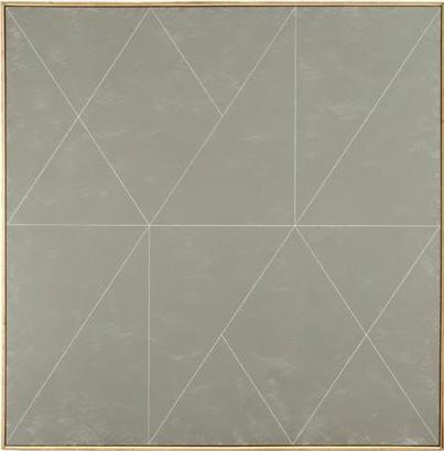 "Glacial Kame IX, 1975, acrylic on canvas, 54"" x 54"""