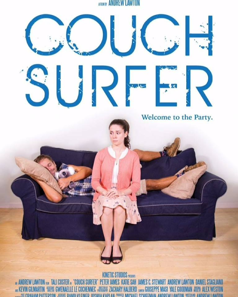 Poster from the comedic film 'Couch Surfer' from Kinetic Studios