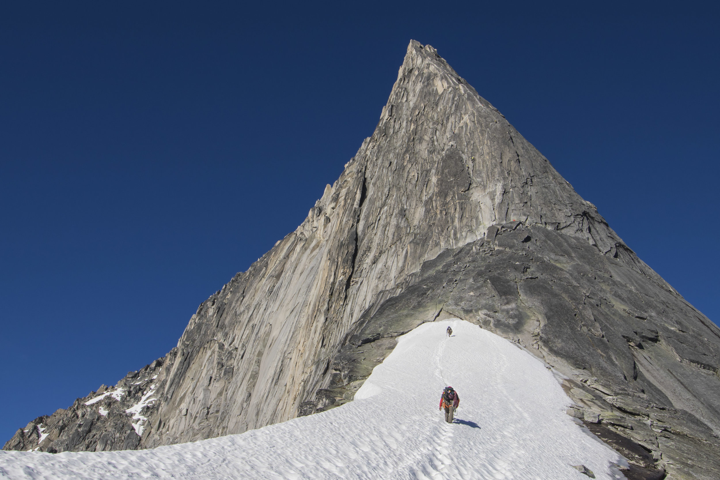 Climbers on approach to Bugaboo Spire