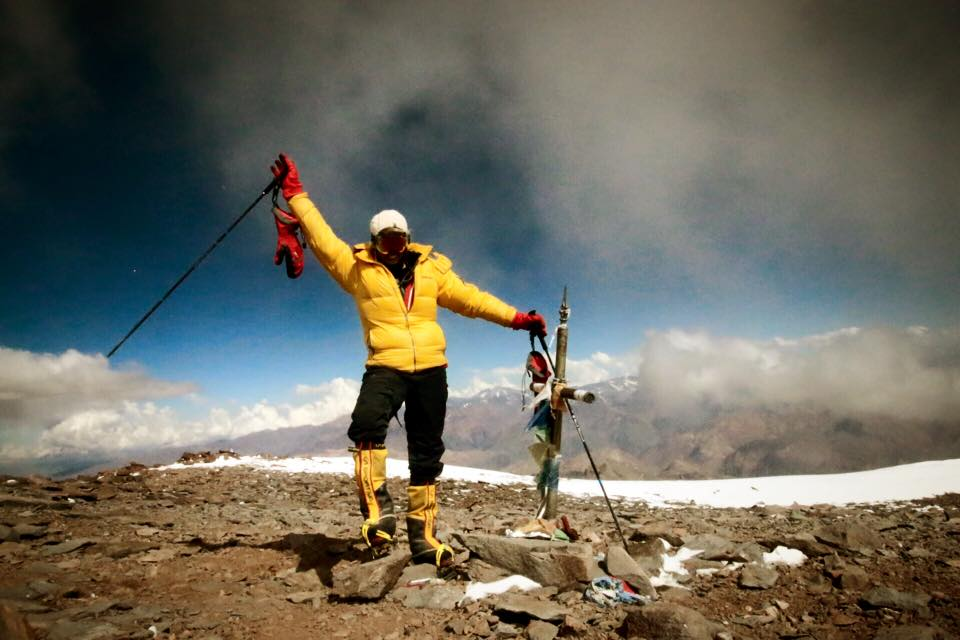 22,862ft: Me and my BD poles on the summit of Aconcagua