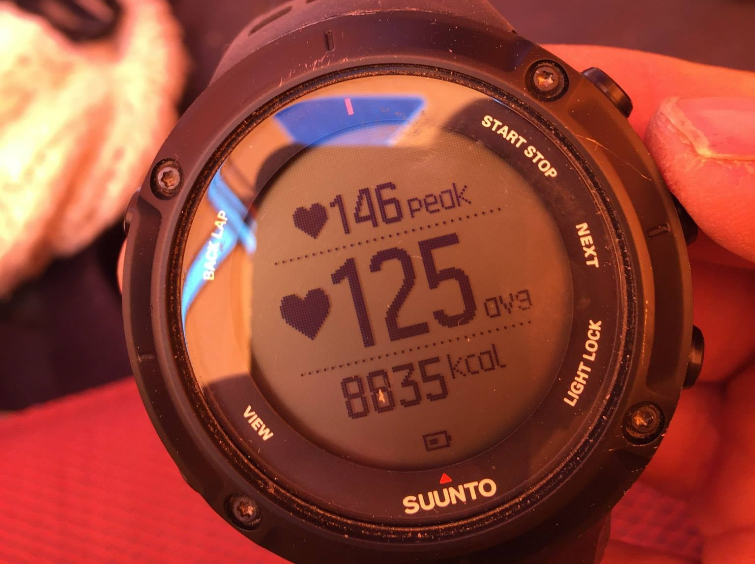 My Suunto's take on summit day... almost 9000 calories, mmh