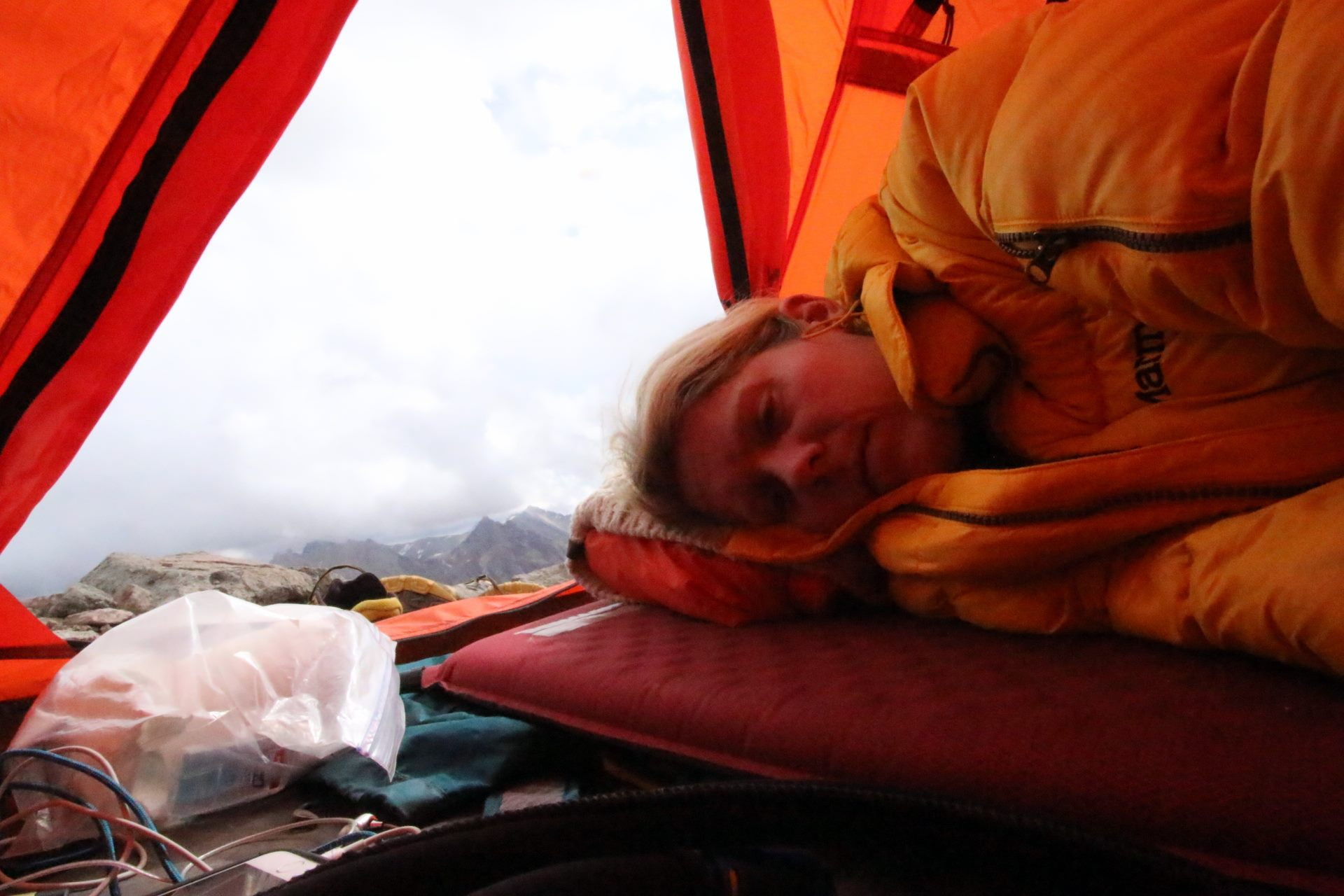 Did I mention there'll be suffering? I was definitely suffering here... sick from bad water at Camp II in 2014