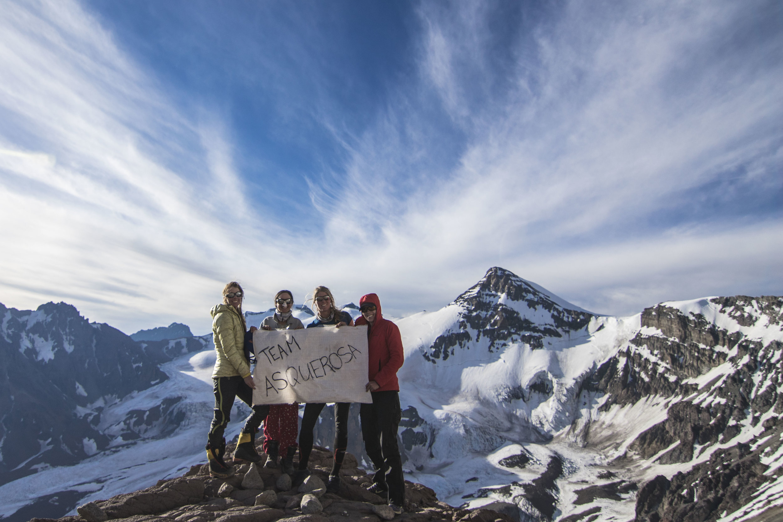 The team in full force at Camp Canada (16,500ft)