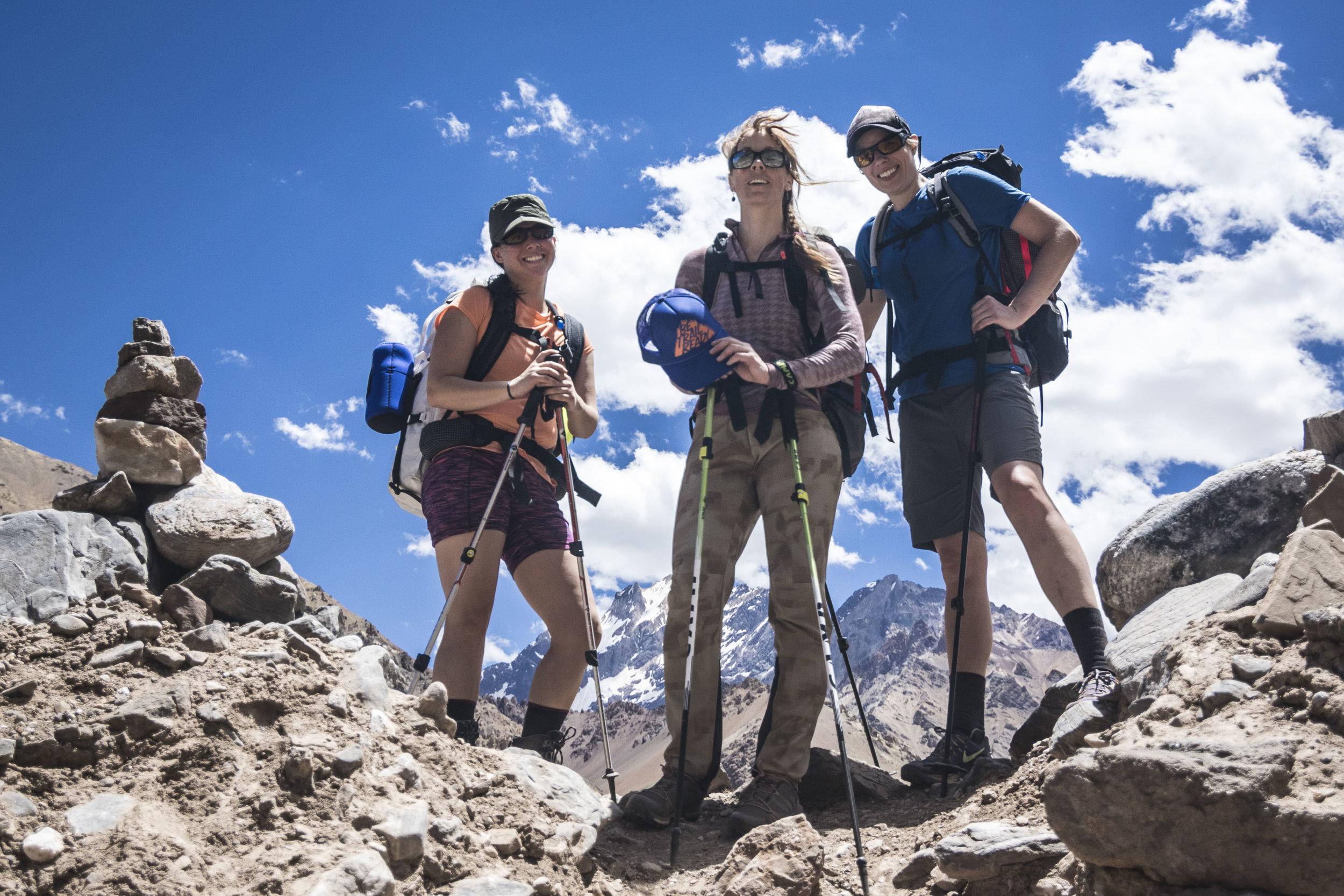 Chicas en Aconcagua - climbing with an all-female team!
