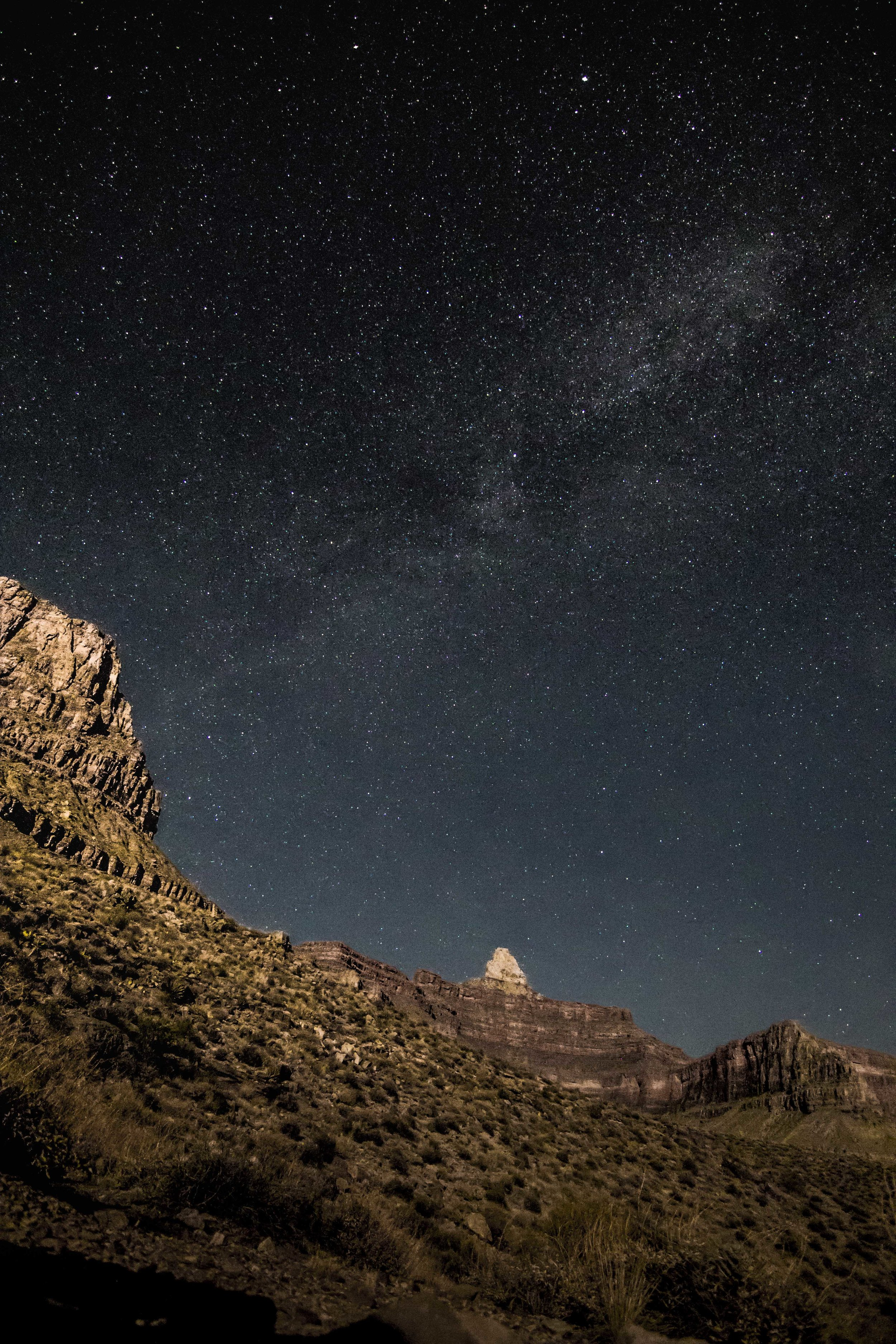 another night at the bivy, Zoroaster and the Milky Way
