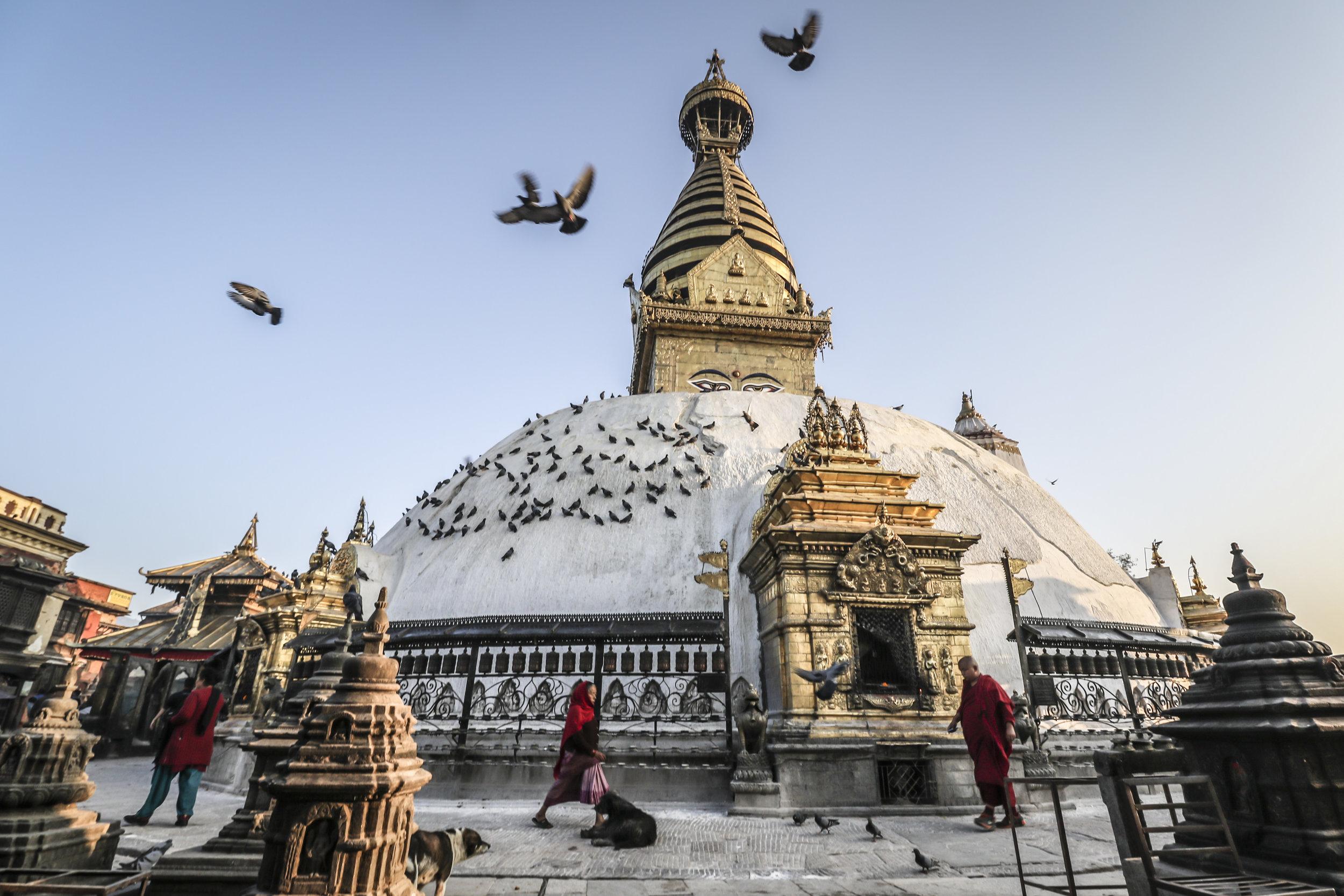Kathmandu's Swayambhunath Stupa (Monkey Temple)