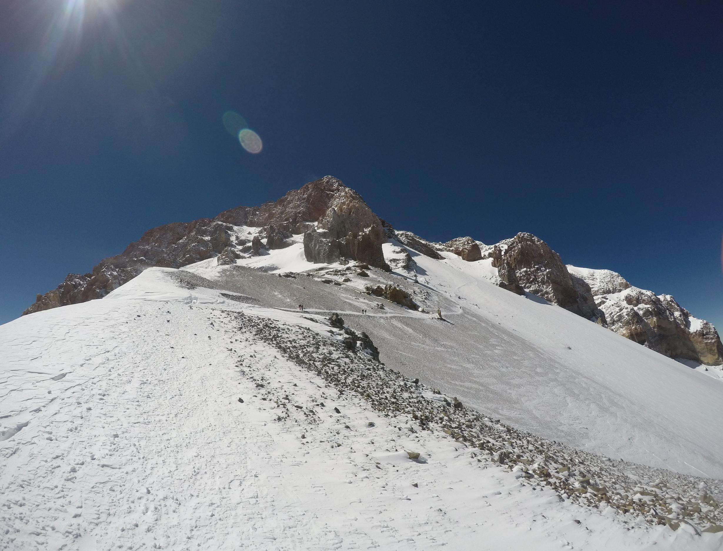 Between Camp III and the summit