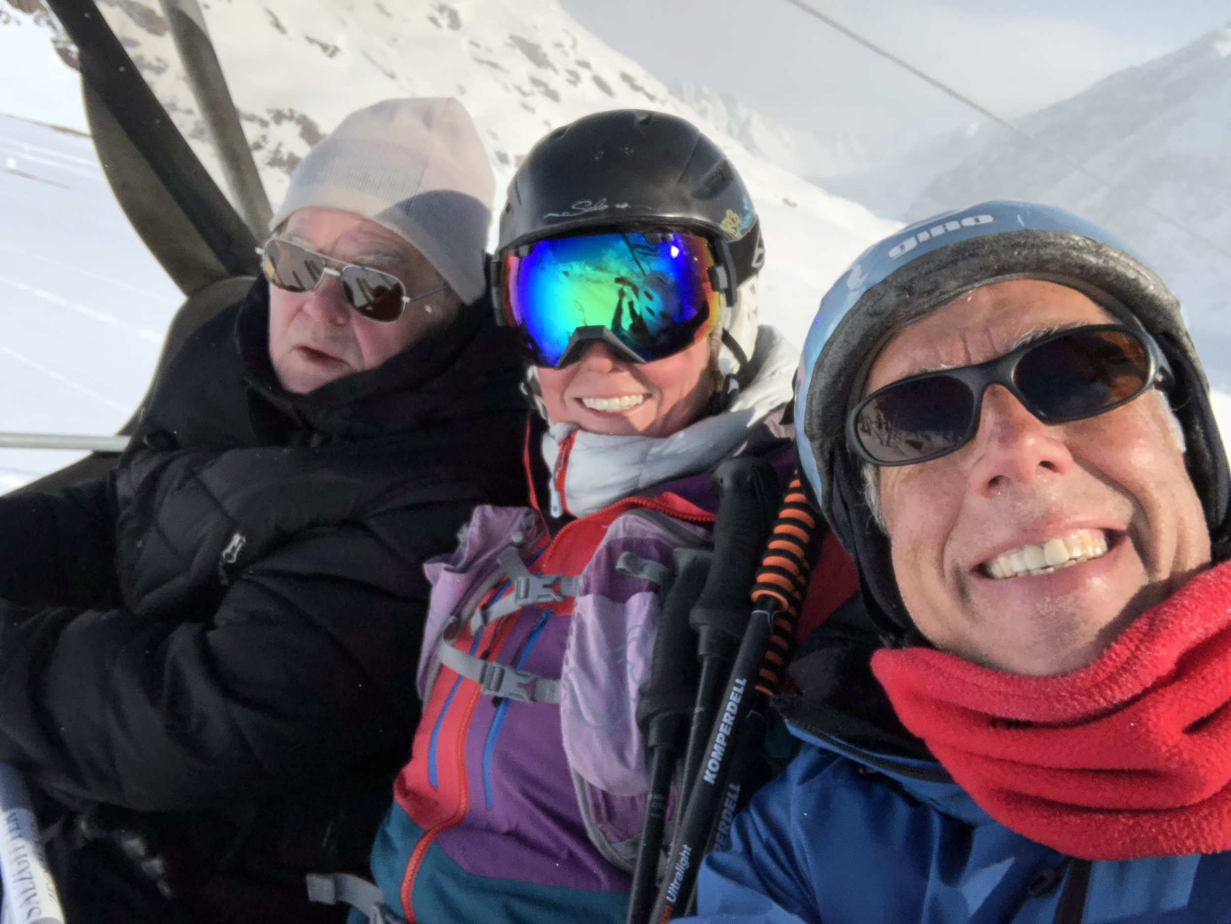 And skiing with dad!