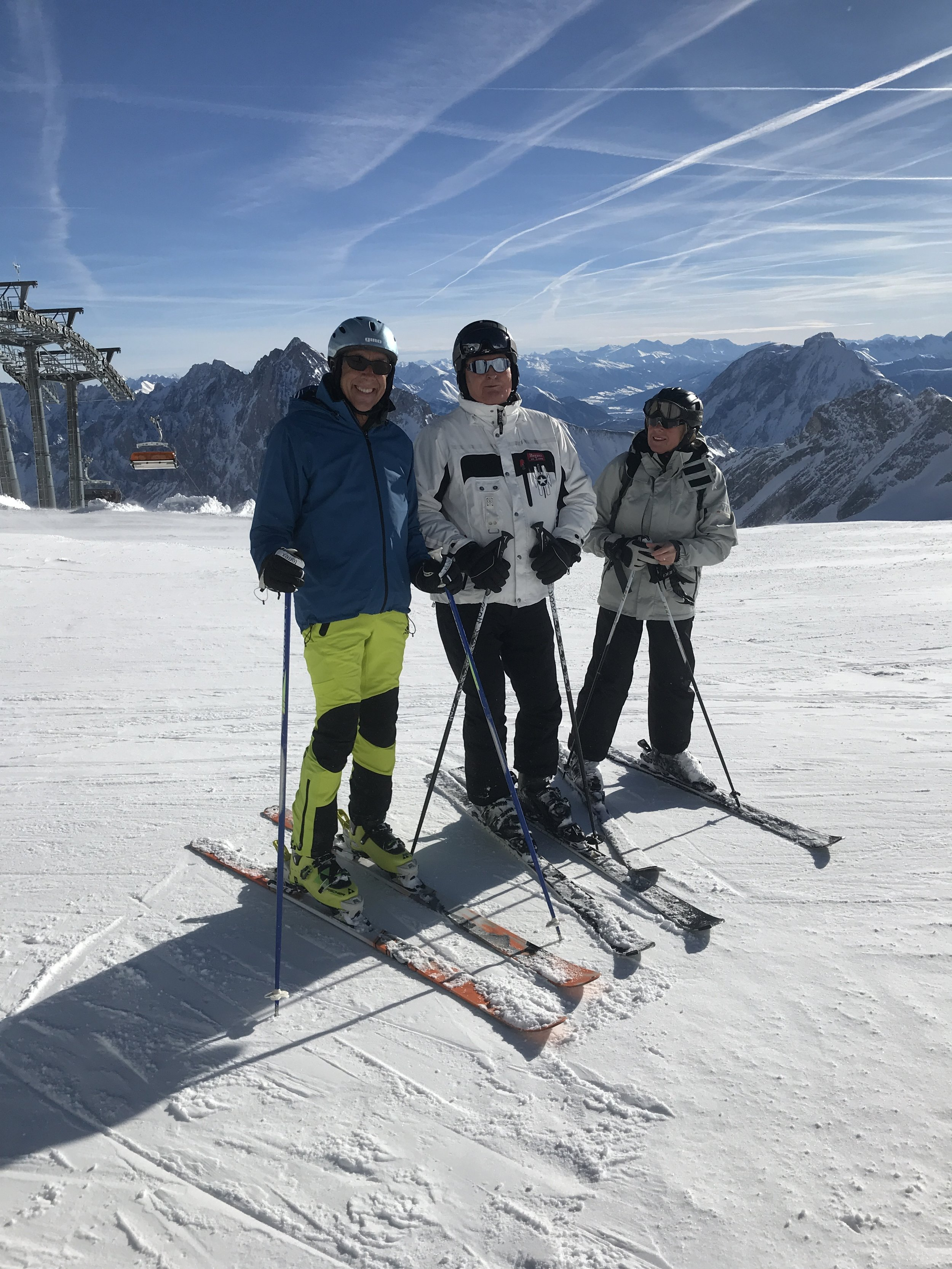 Skiing with mom & her husband