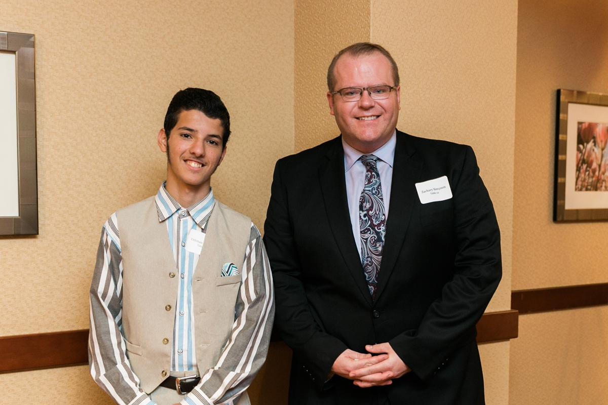 Othman, a Scholar at Albany High School, and Zach, his mentor.