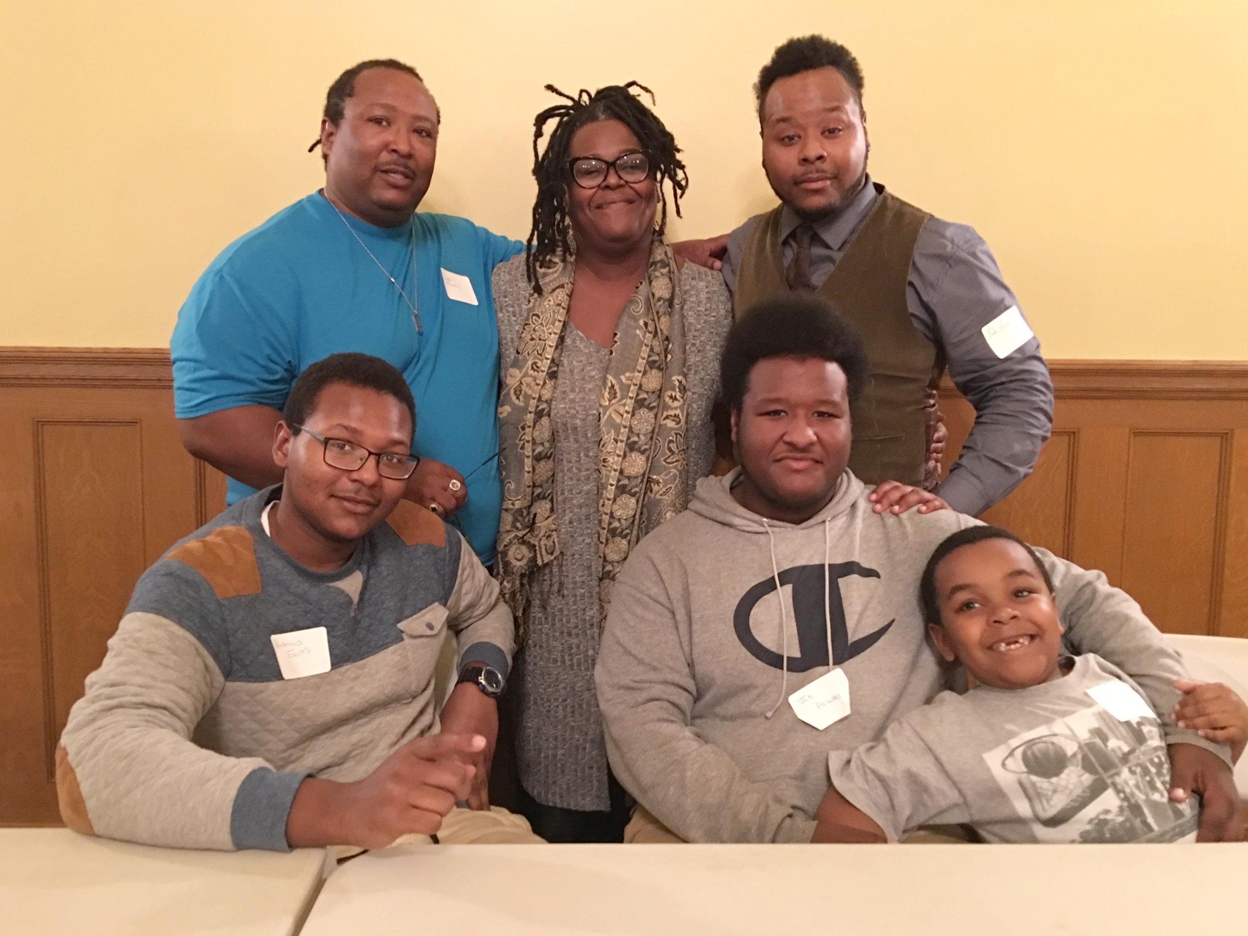 From Left: Elijah's parents Lowendell and Milisa Foulks, Elijah, Victorious, Job and Judah.