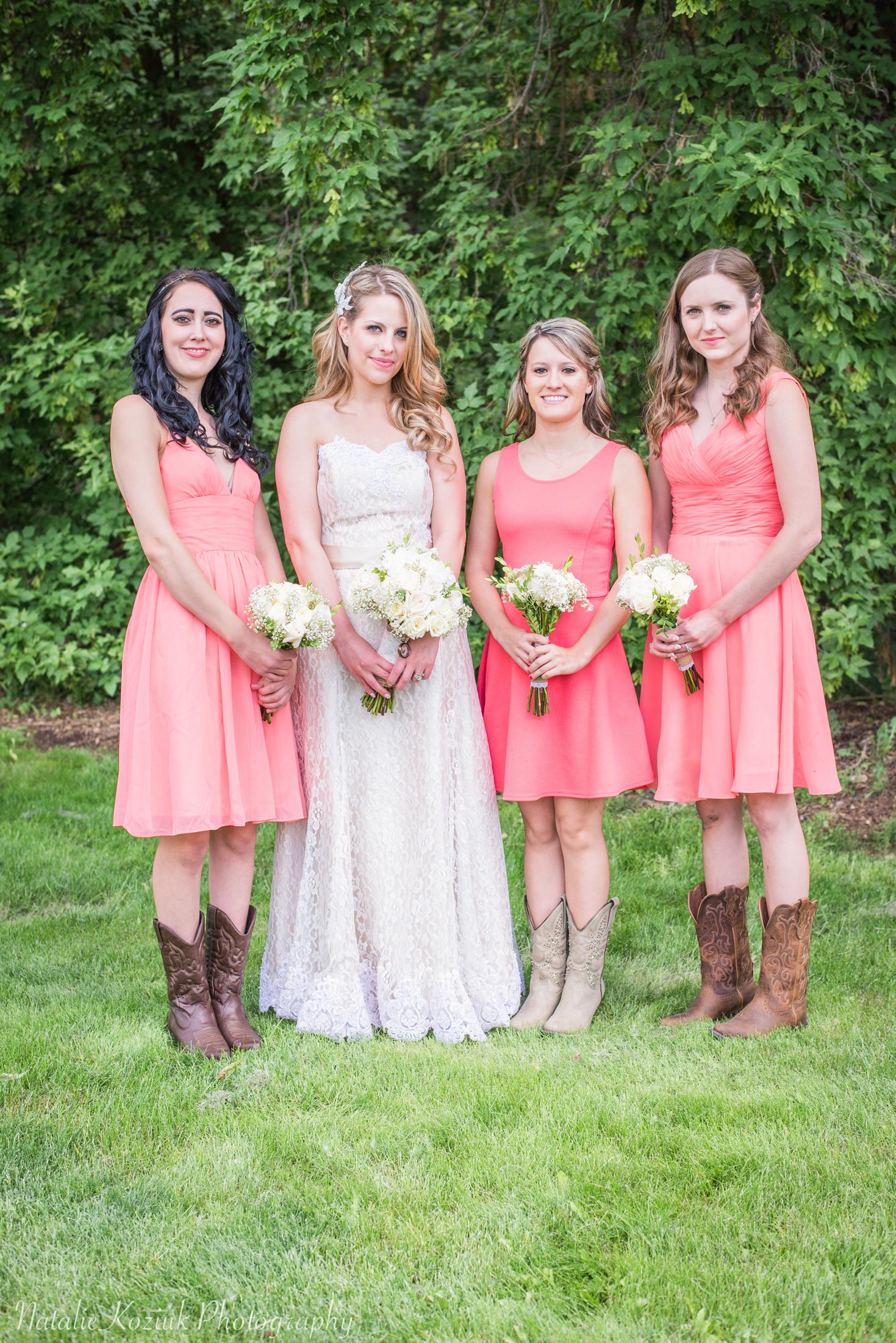 Natalie Koziuk Photography | Boise wedding photographer | bridesmaids | Star, ID | Bride Groom | nkoziukphotography.com