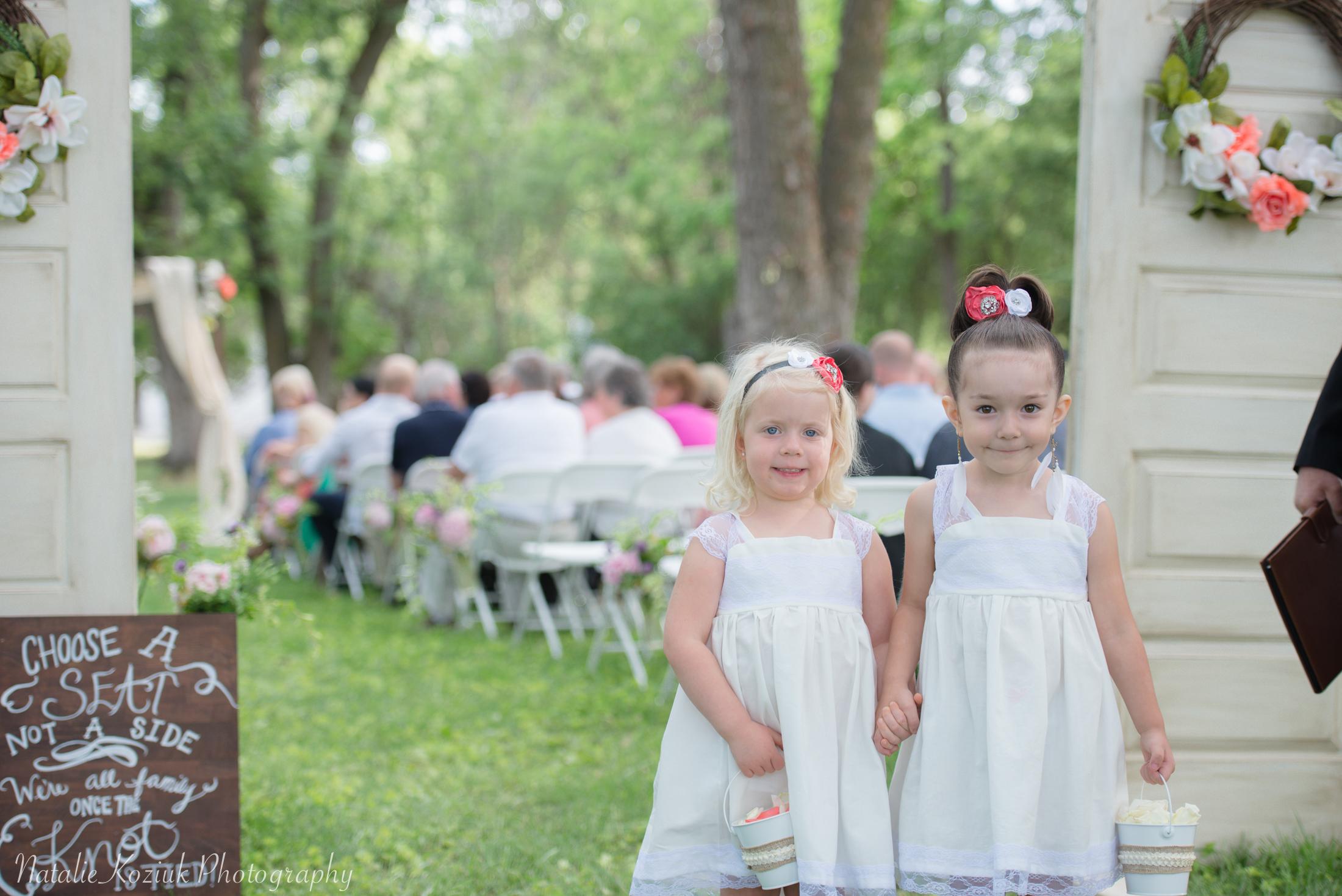 Natalie Koziuk Photography | Boise wedding photographer | flower girls | Star, ID | Bride Groom | nkoziukphotography.com