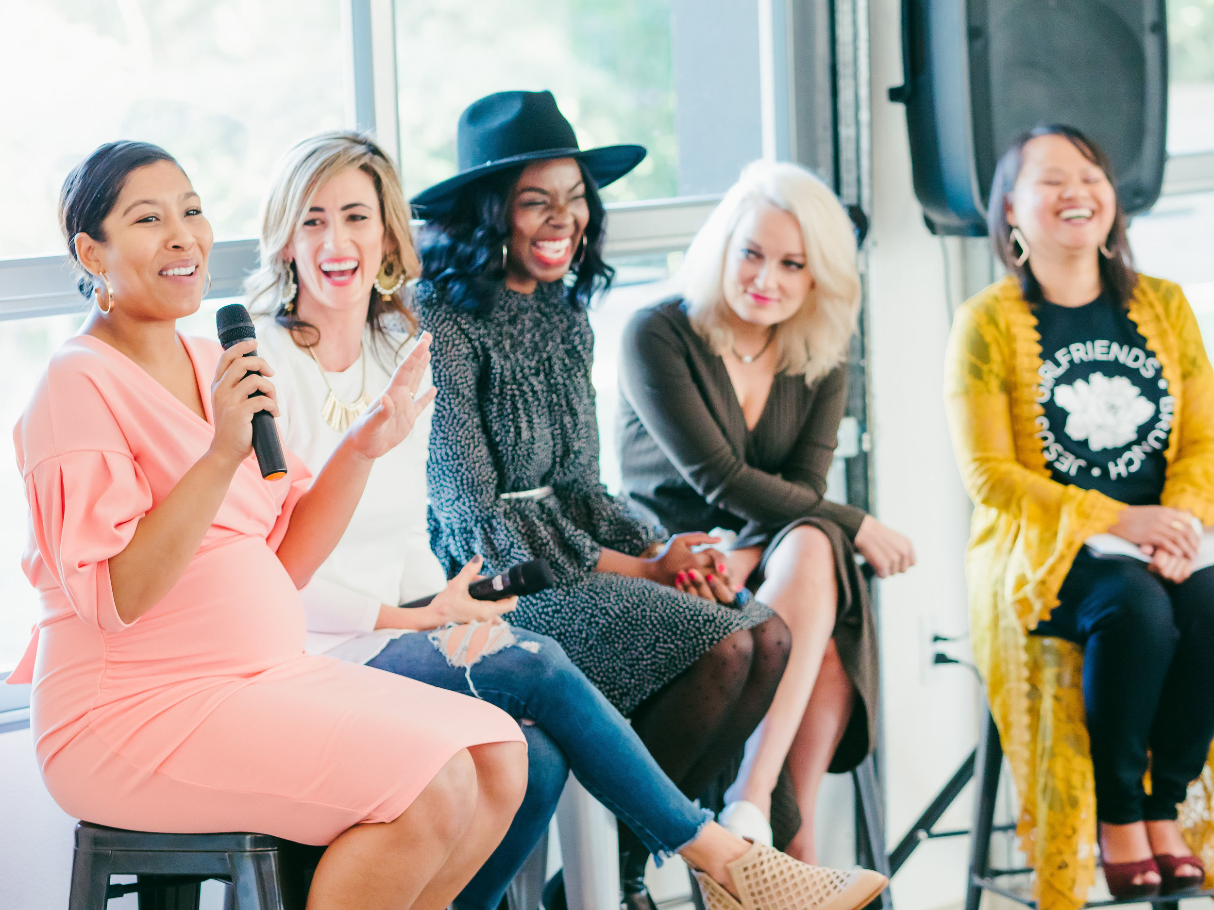And laugh some more….. Our Faith panel was full of encouragement.  Samnang Howard- @thatsamsway  Krystle Barrington-  www.krystlebarrington.com   Kendra Stanton-  www.citizensofbeauty.com   Lindsey Crouch-  www.guiltlessgoodies.com   Jade Shaw-  www.jadeshawonline.com