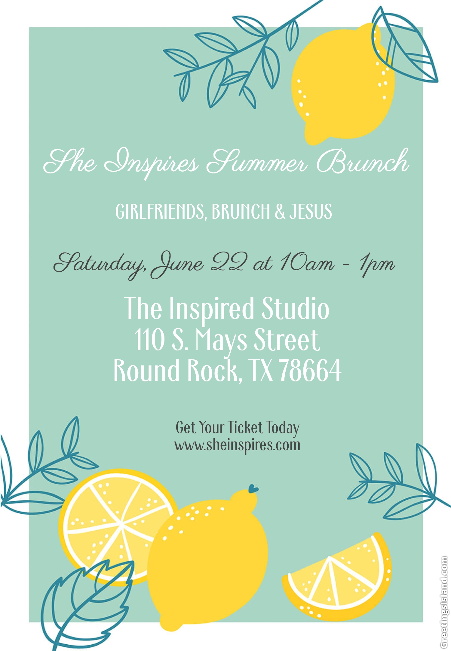 PURCHASE YOUR TICKETS  HERE !!! AND VISIT  THE INSPIRED STUDIO  FOR DETAILS OF THE VENUE!!