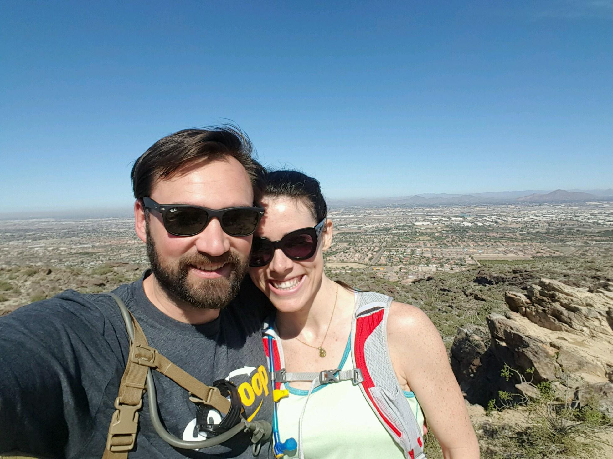 Hiking with Kristian in Phoenix, AZ. February 2016.