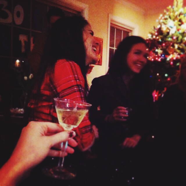 Toasting to the end of my 20s. December 6, 2013.