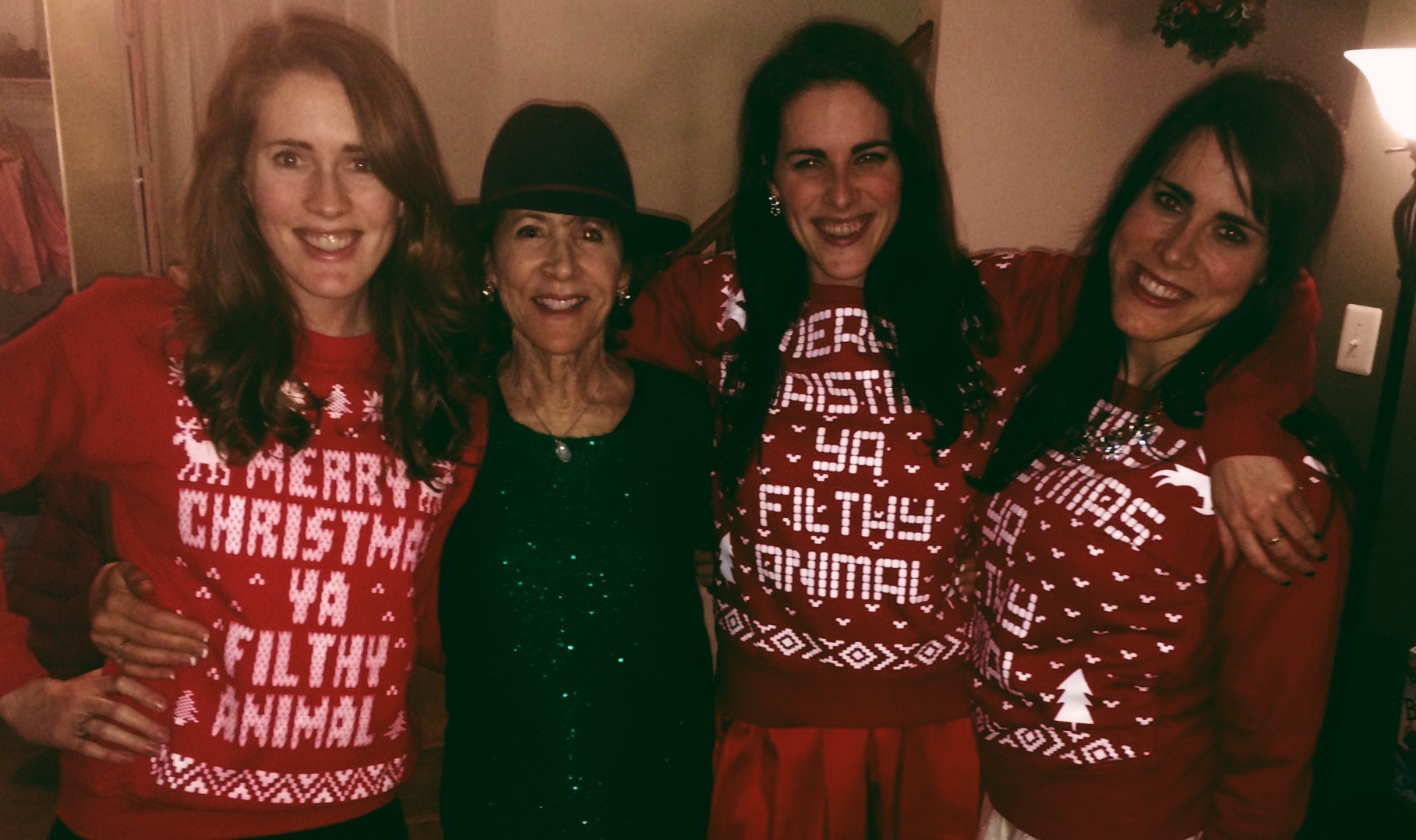 Christmas 2014, complete with matching Home Alone sweatshirts, courtesy of my sister.