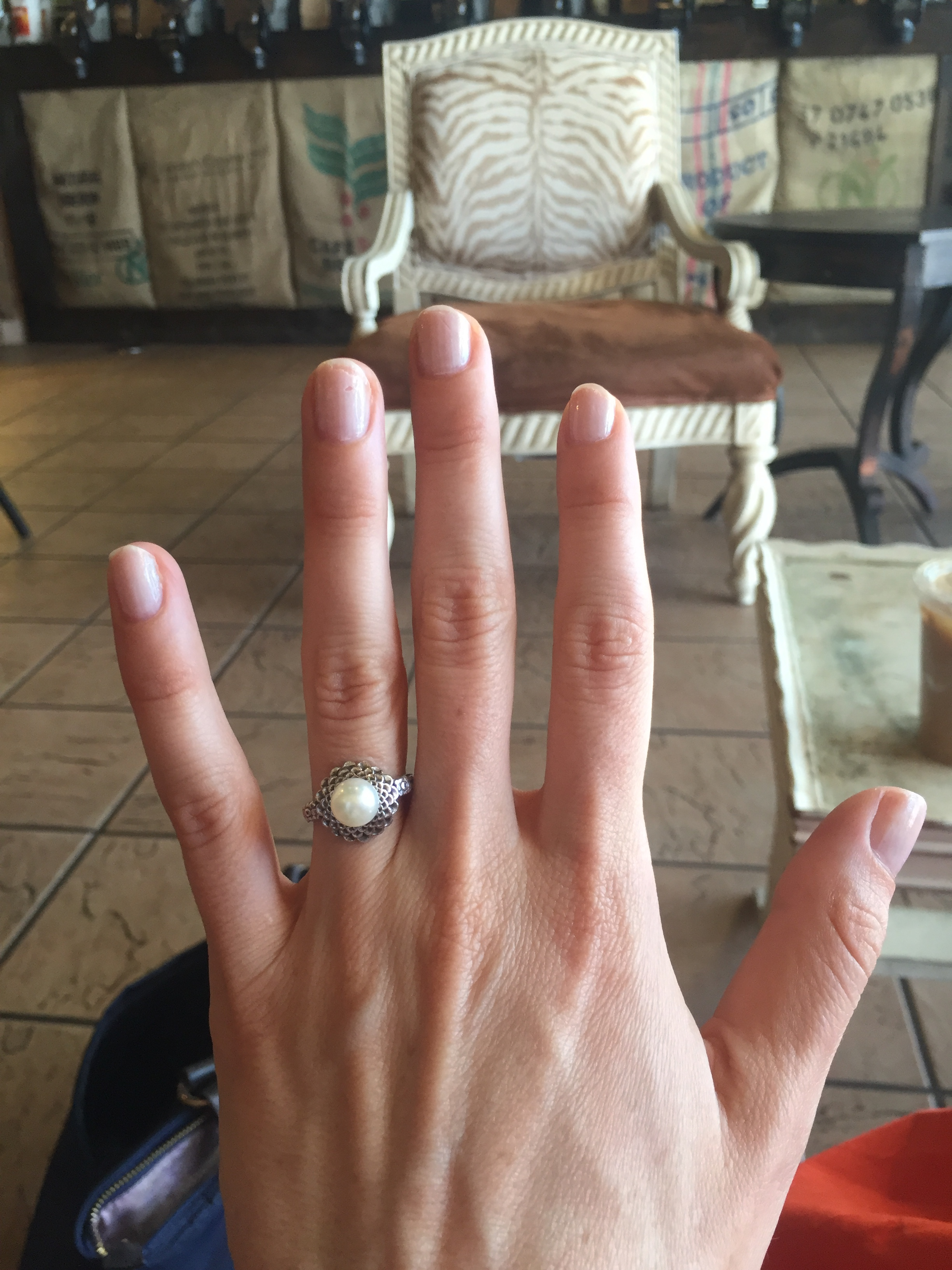 Unmanicured hands=further proof that he surprised me.