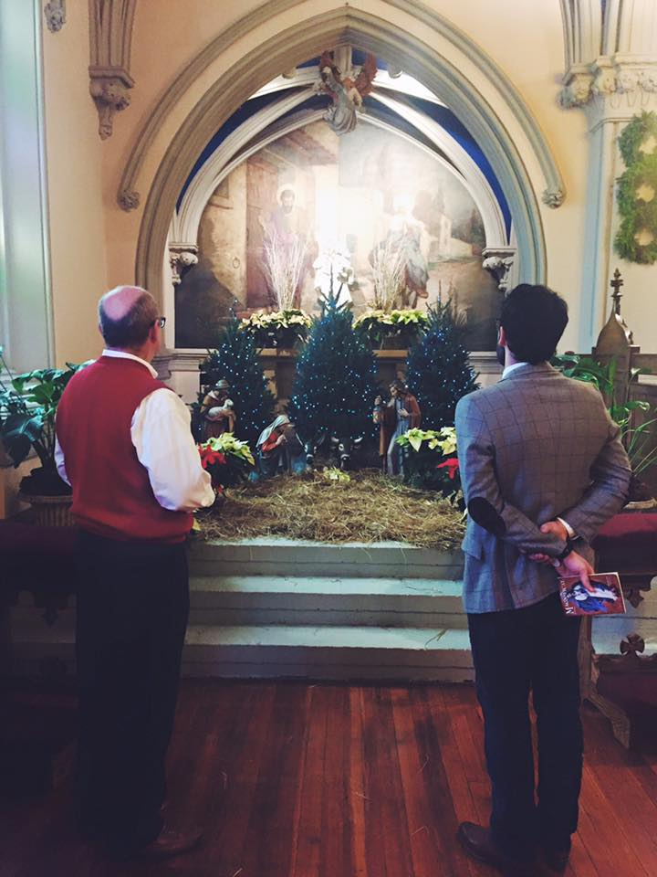 My brother and my dad, last Christmas, being the men of God that they are.