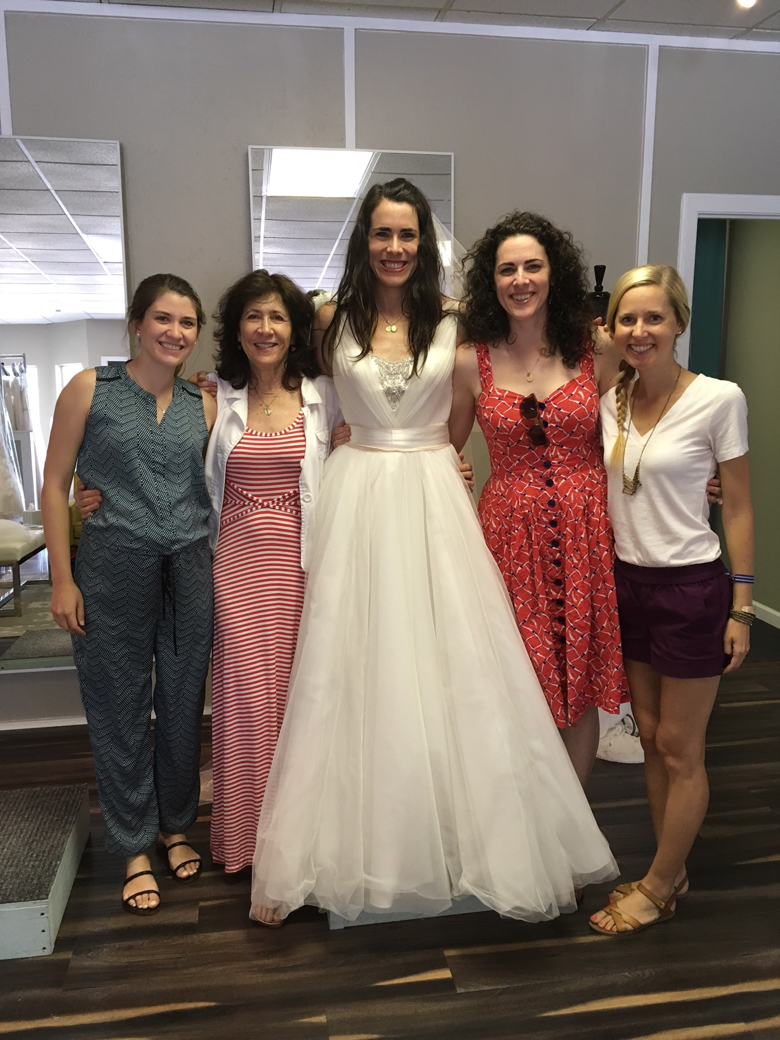 3 out of 4 of my bridesmaids and my mom were able to come with me. Such a fun experience!