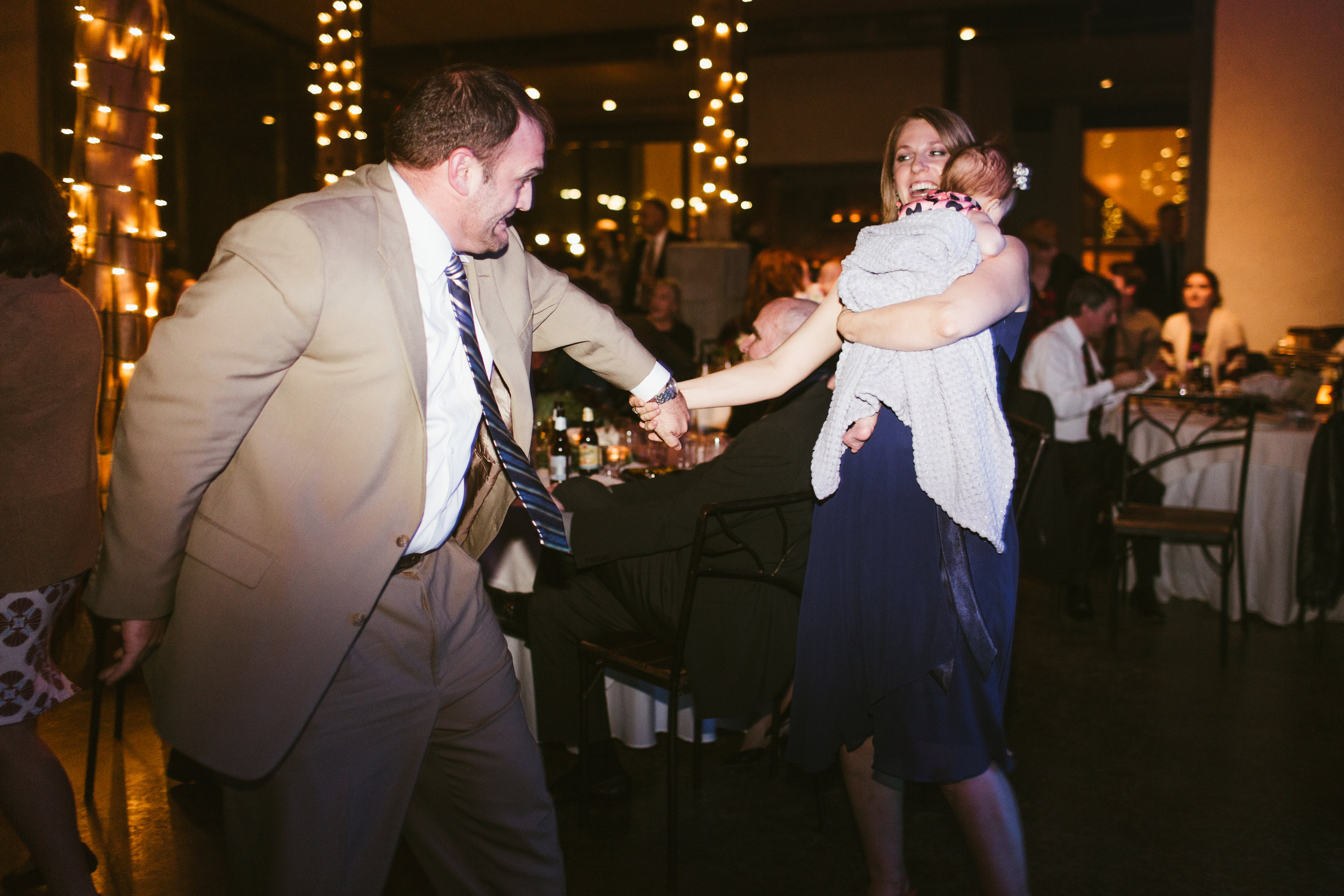 Dancing with an infant: it IS possible.