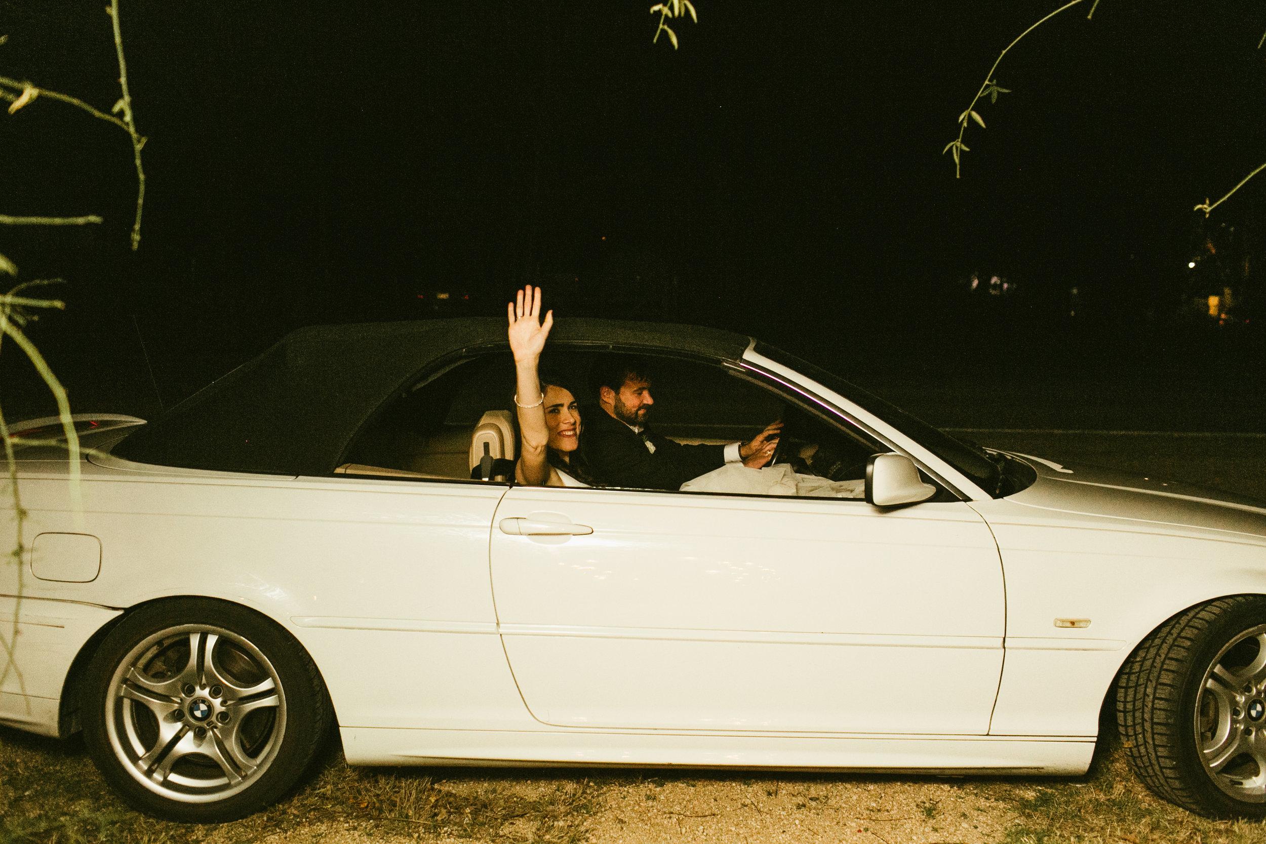 Getaway car, courtesy of my Dad.