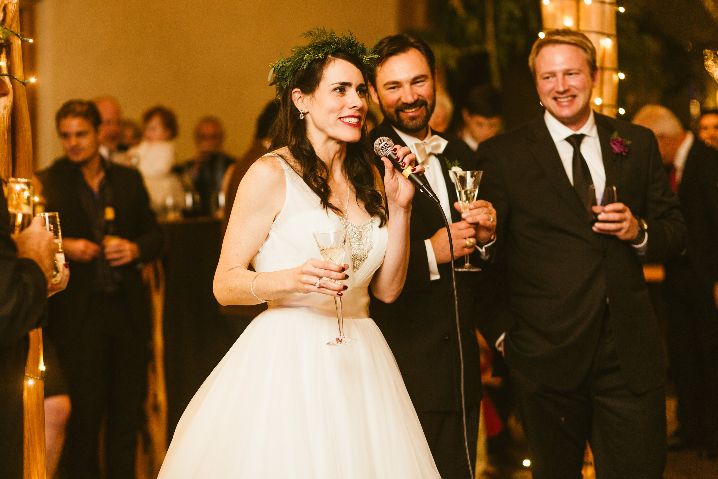 Who says brides can't toast at their own wedding?