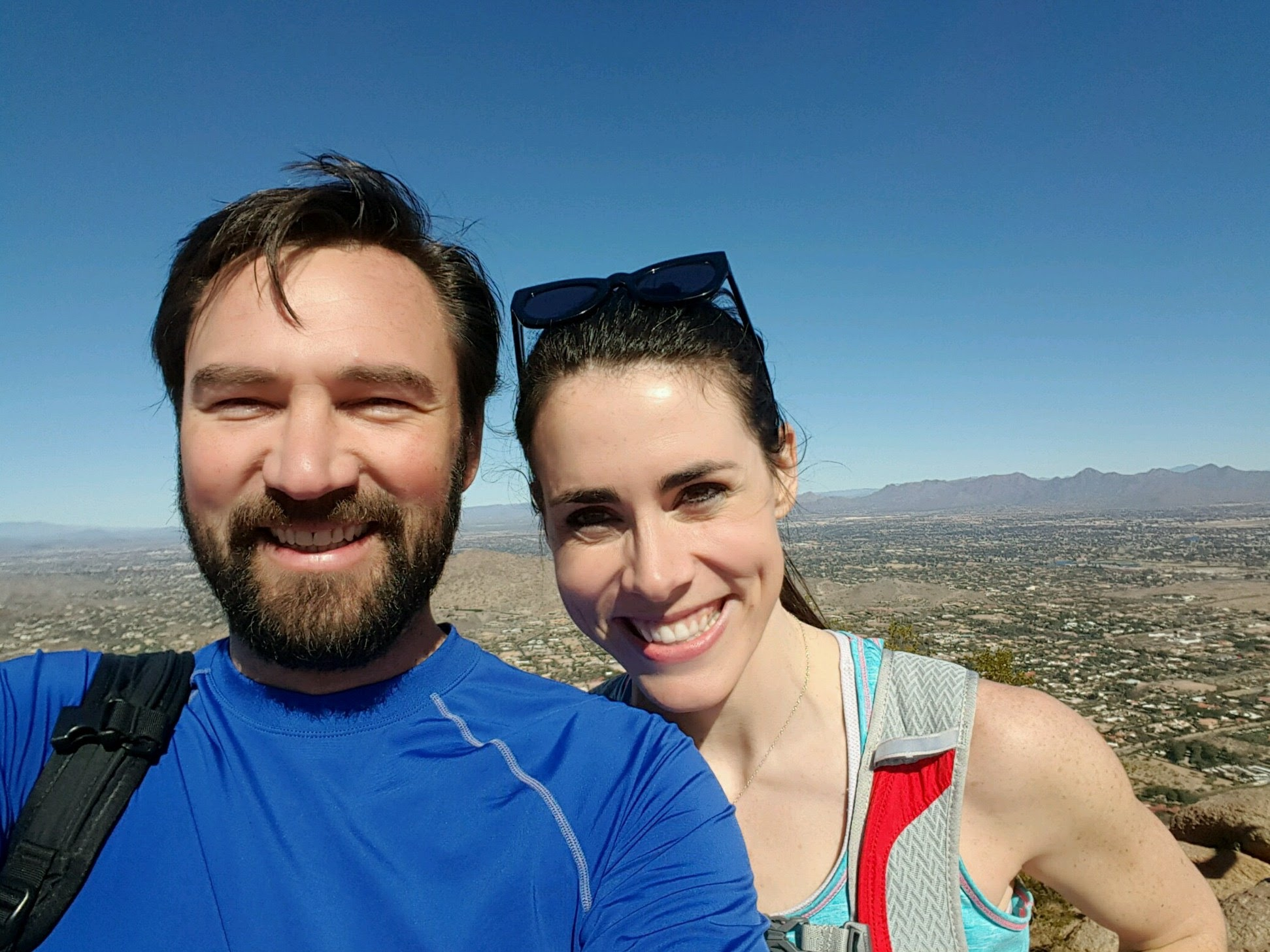 Our first date: hiking Camelback Mountain in Phoenix. 2/6/16.