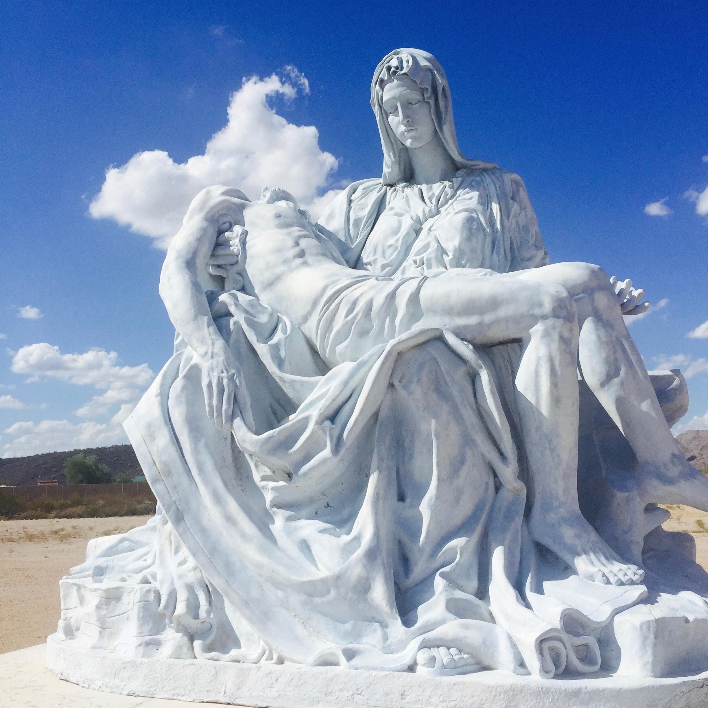 Replica of the  Pieta, Our Lady of Solitude Monastery.