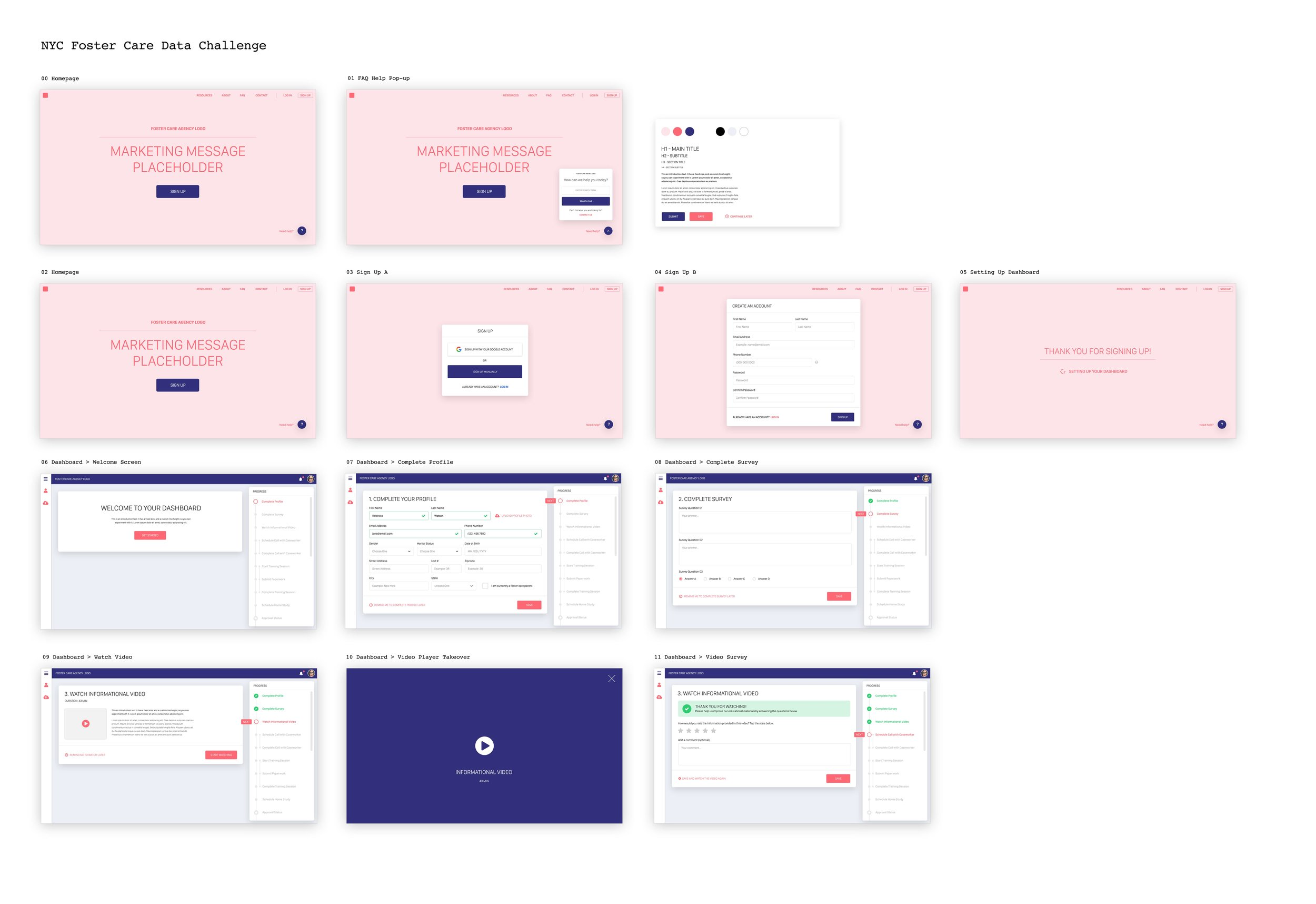 I designed the on boarding process using Adobe Suite and Invision. Designs are inspired by Google's Material Design guidelines.
