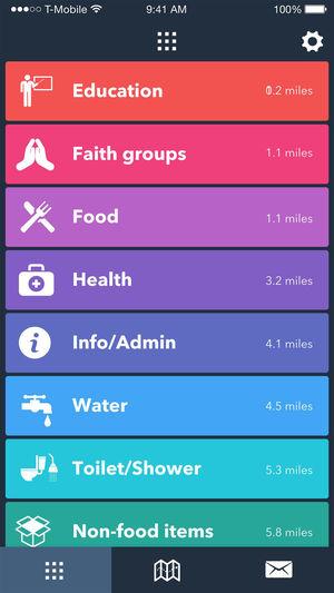 Refaid mobile application user interface
