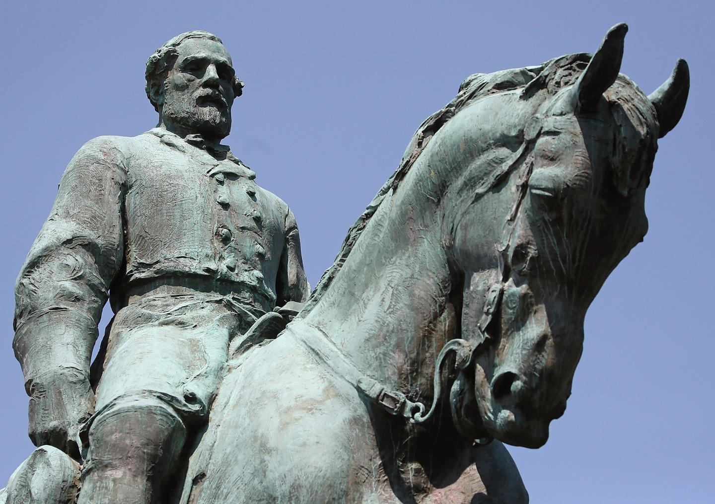 The statue of Confederate Gen. Robert E. Lee in the center of the renamed Emancipation Park on August 22, 2017 in Charlottesville, Virginia. A decision to remove the statue caused a violent protest by white nationalists, neo-Nazis, the Ku Klux Klan and members of the 'alt-right'.MARK WILSON/GETTY