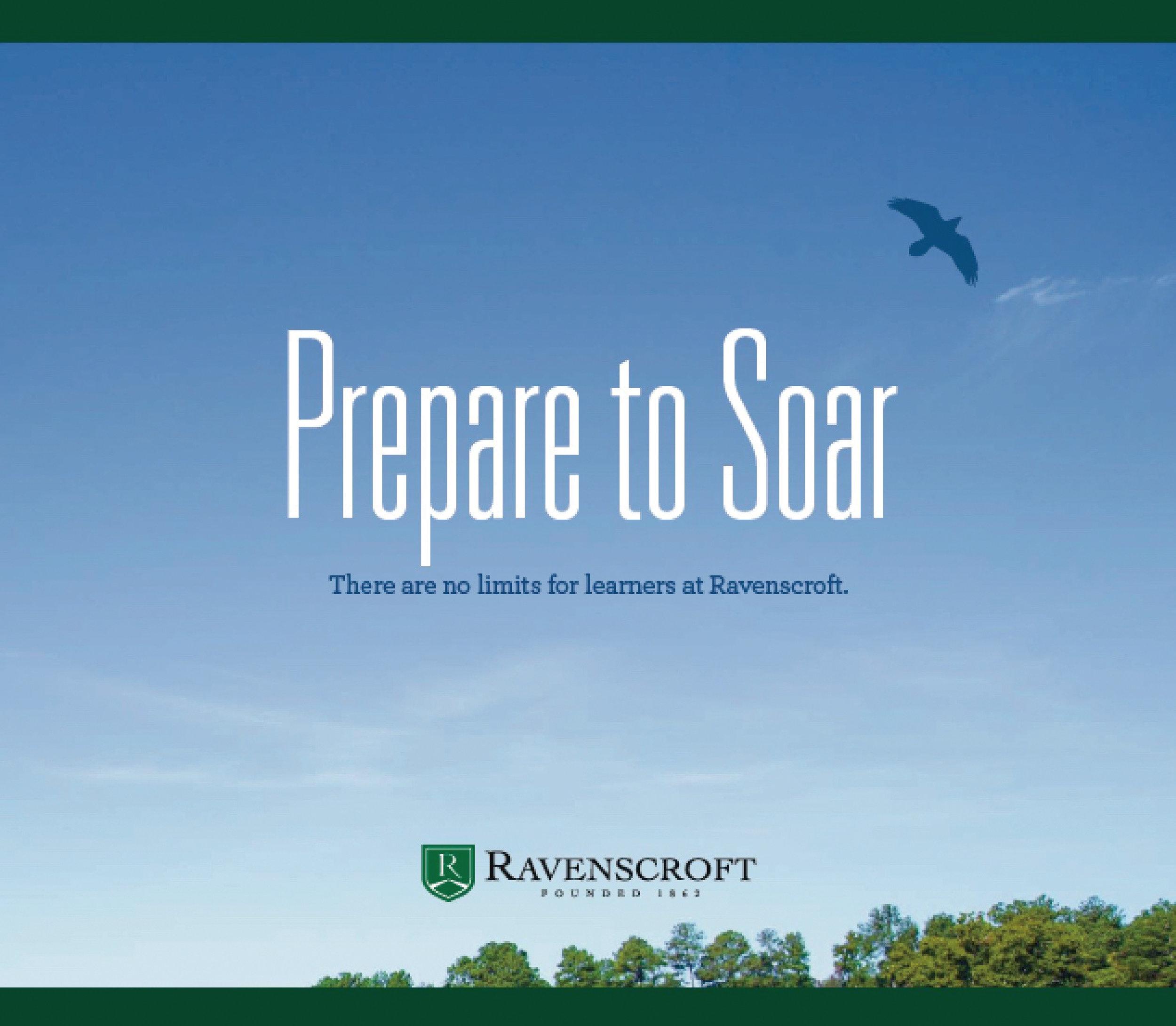 PREPARE TO SOAR, the Ravenscroft viewbook. Click for PDF.